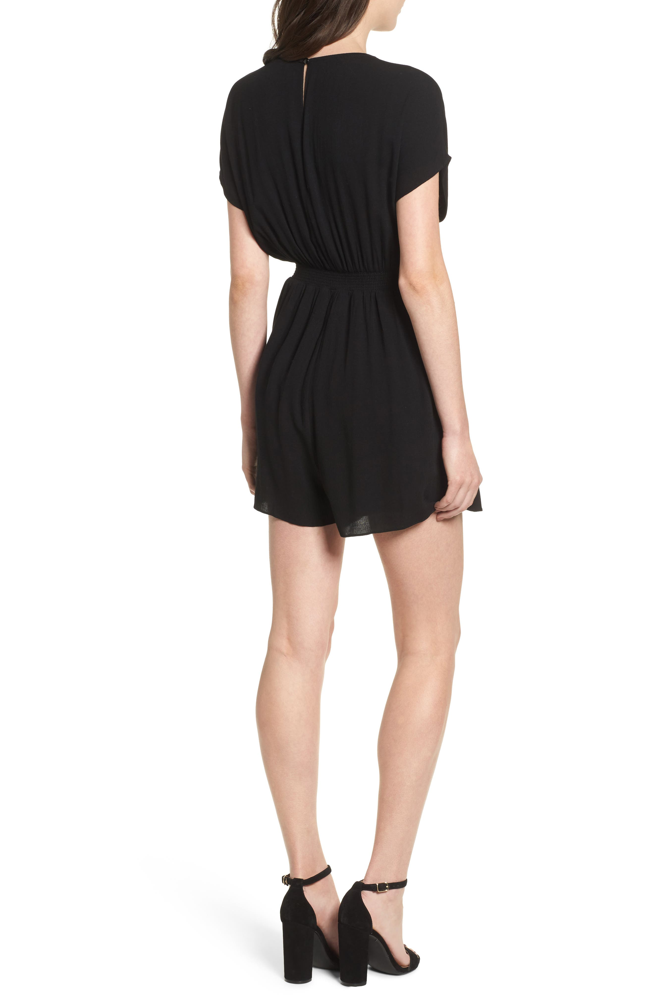 Knotted Romper,                             Alternate thumbnail 4, color,