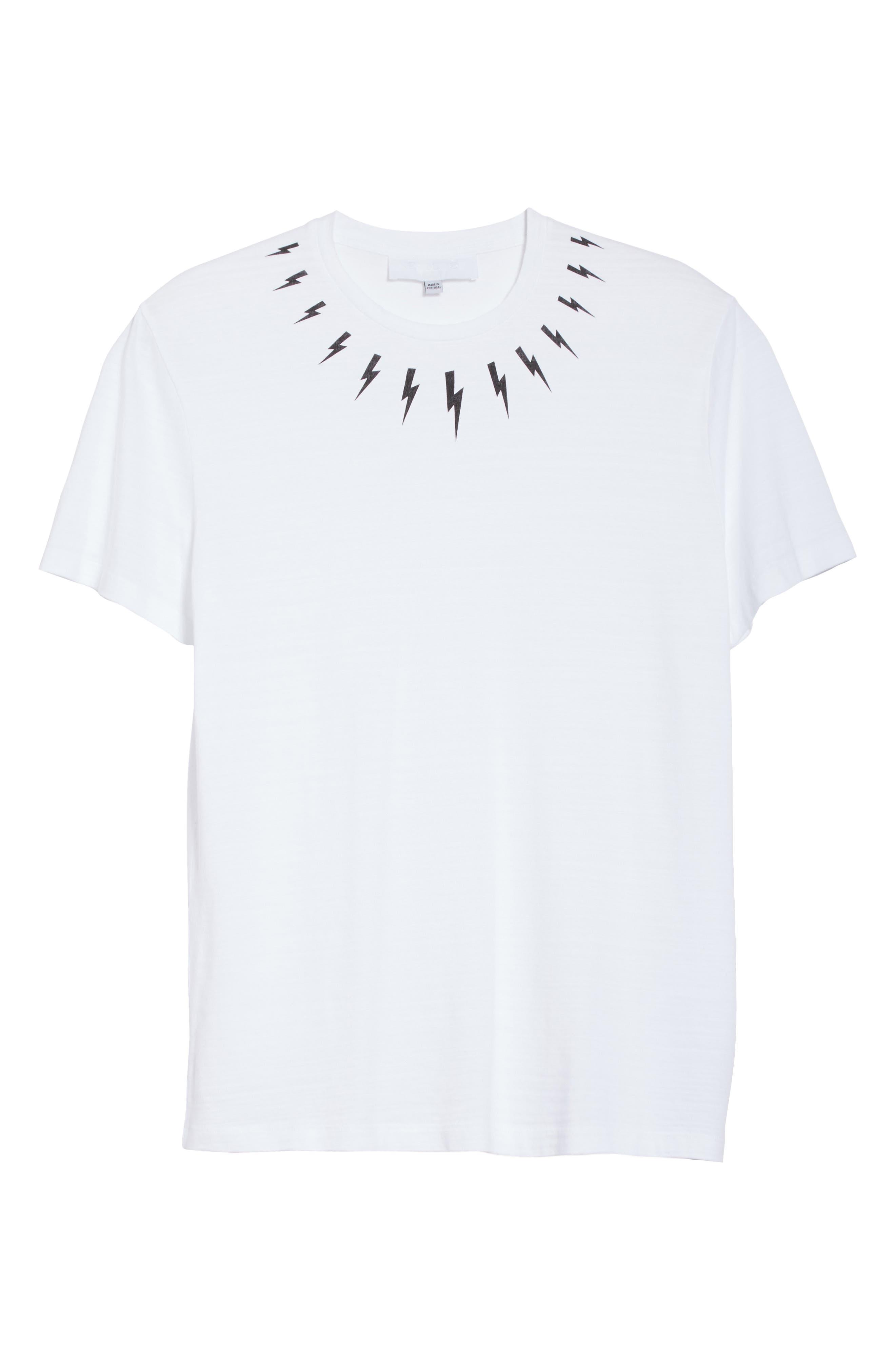 Thunderbolt Graphic T-Shirt,                             Alternate thumbnail 6, color,                             100
