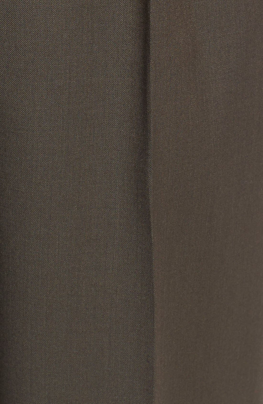 Pleated Solid Wool Trousers,                             Alternate thumbnail 63, color,