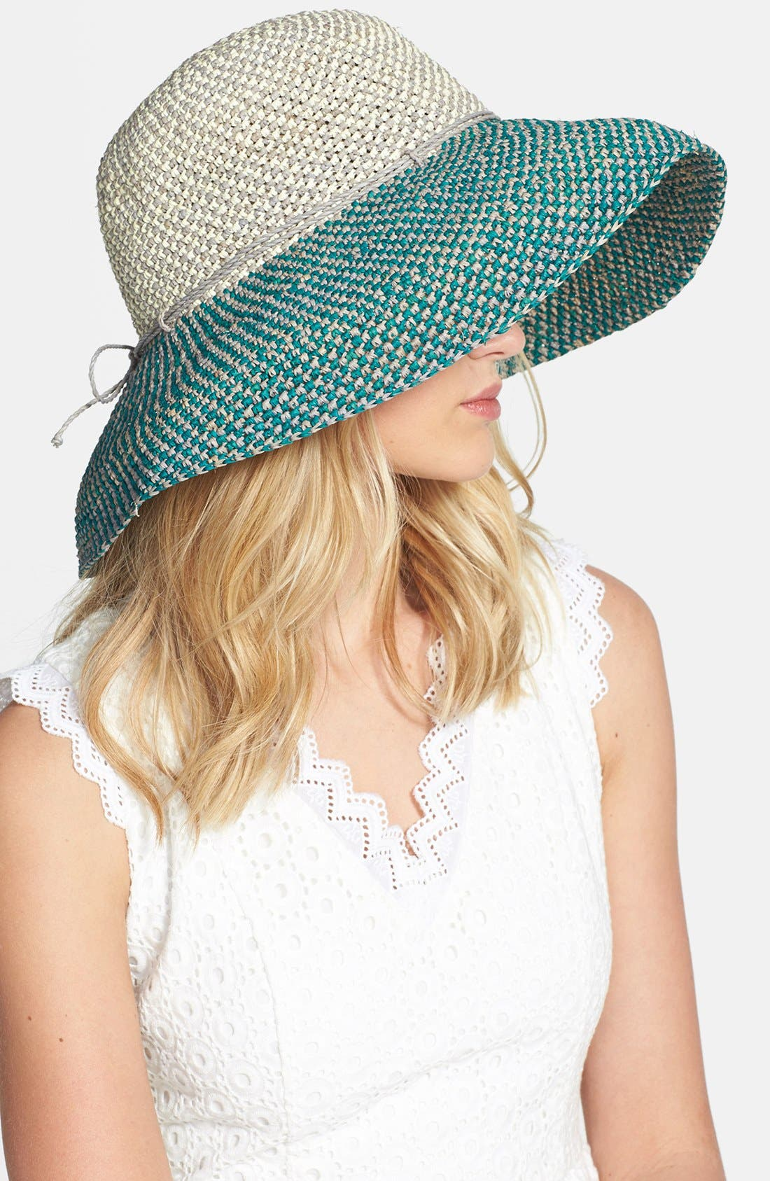 'Provence 12' Packable Raffia Hat,                             Main thumbnail 7, color,