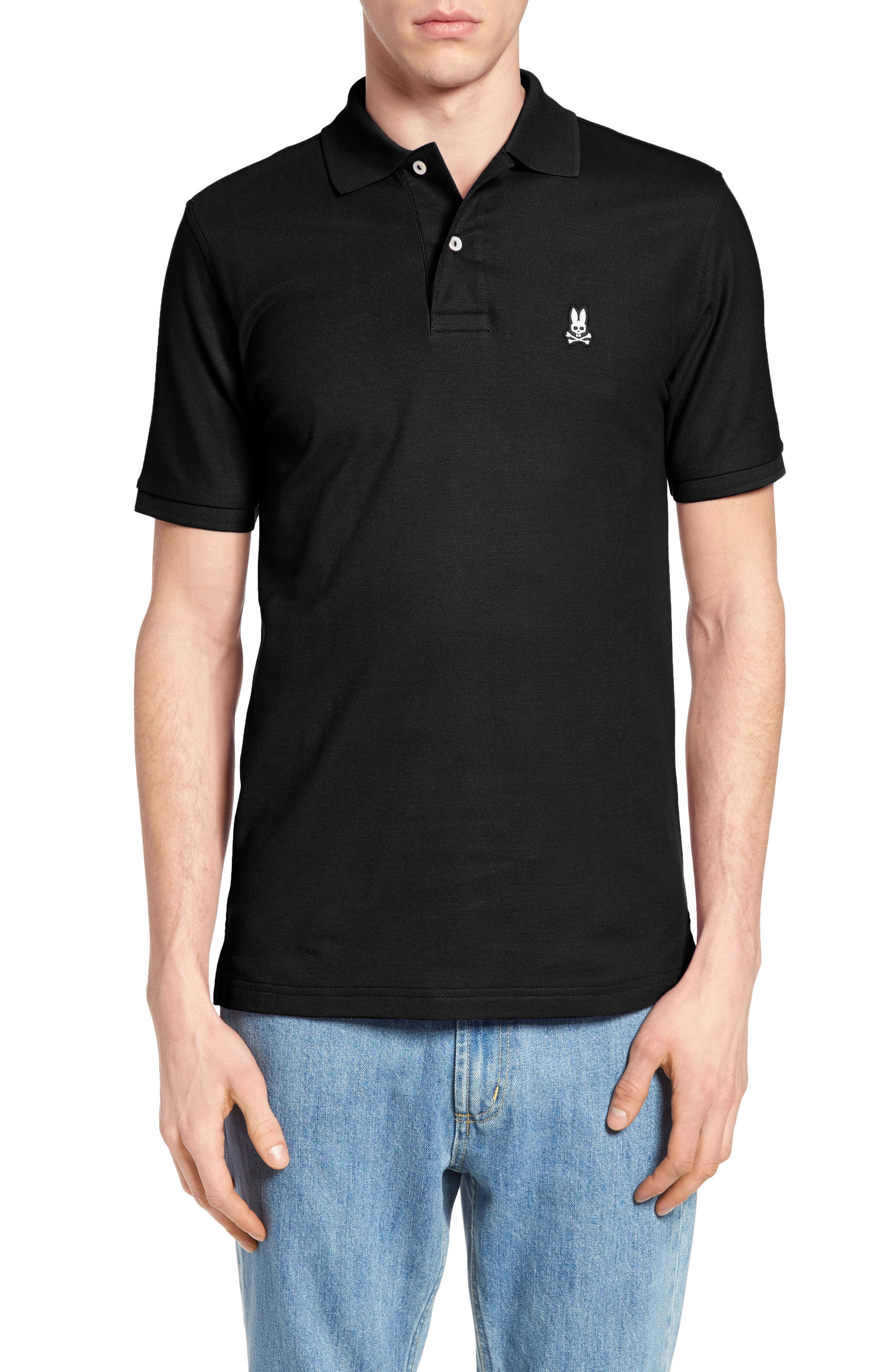 The Classic Piqué Polo,                         Main,                         color, BLACK