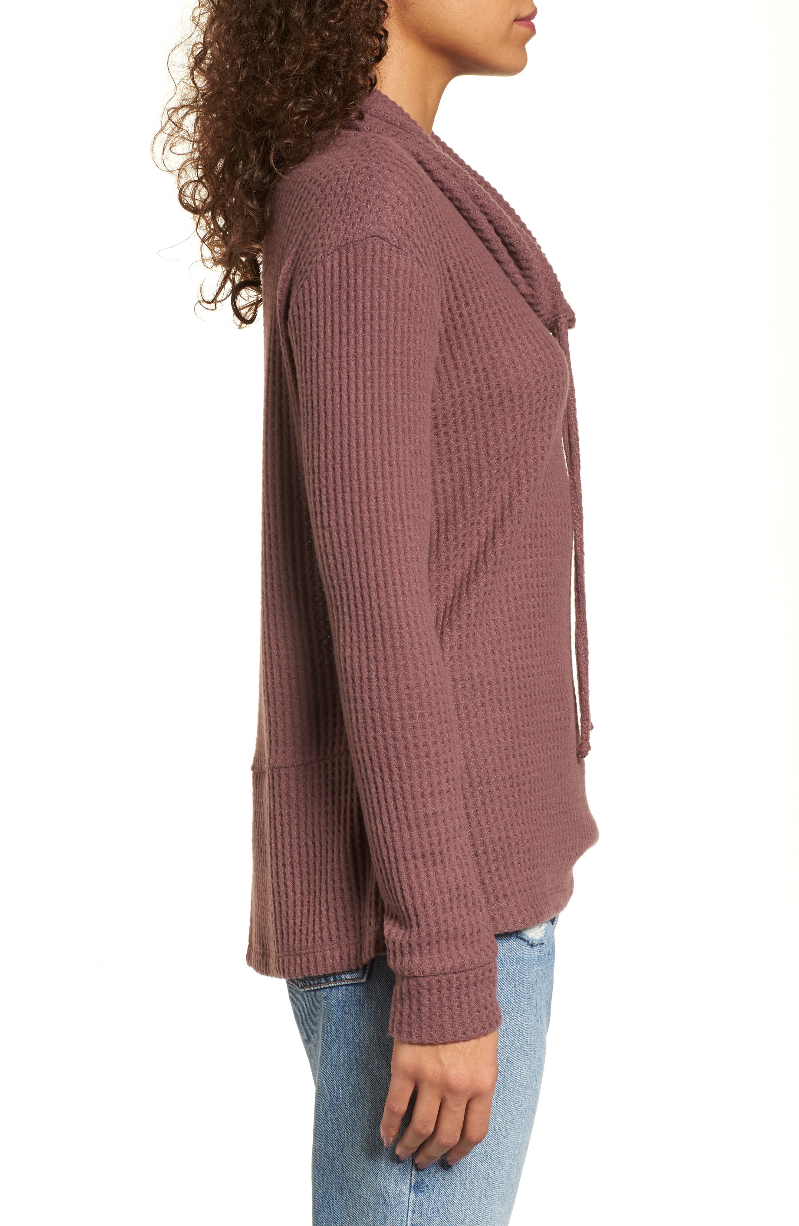 Cowl Neck Waffle Knit Top,                             Alternate thumbnail 12, color,