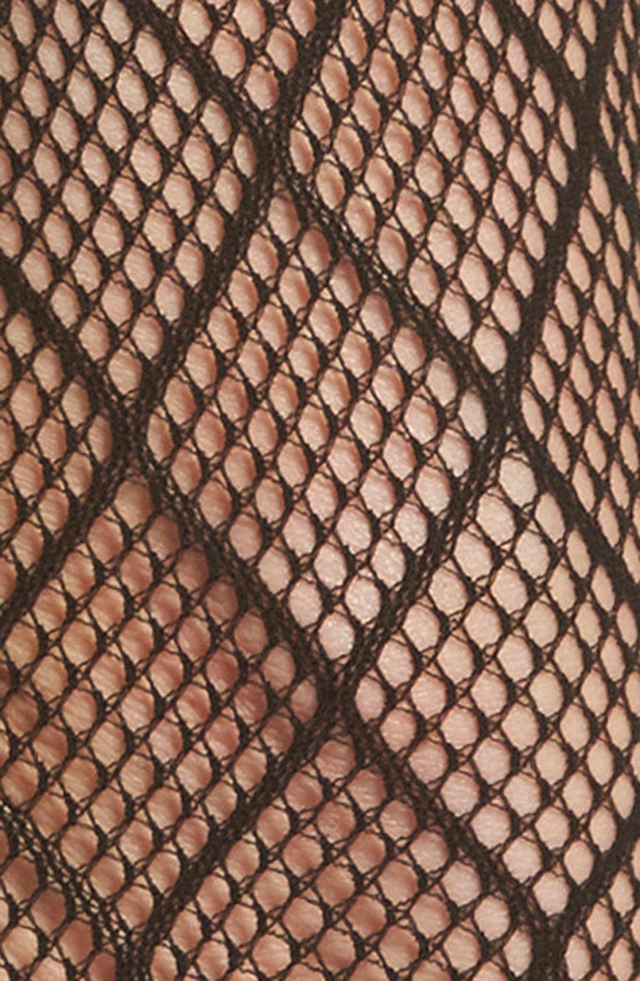 Diamond Fishnet Ankle Socks,                             Alternate thumbnail 2, color,                             001