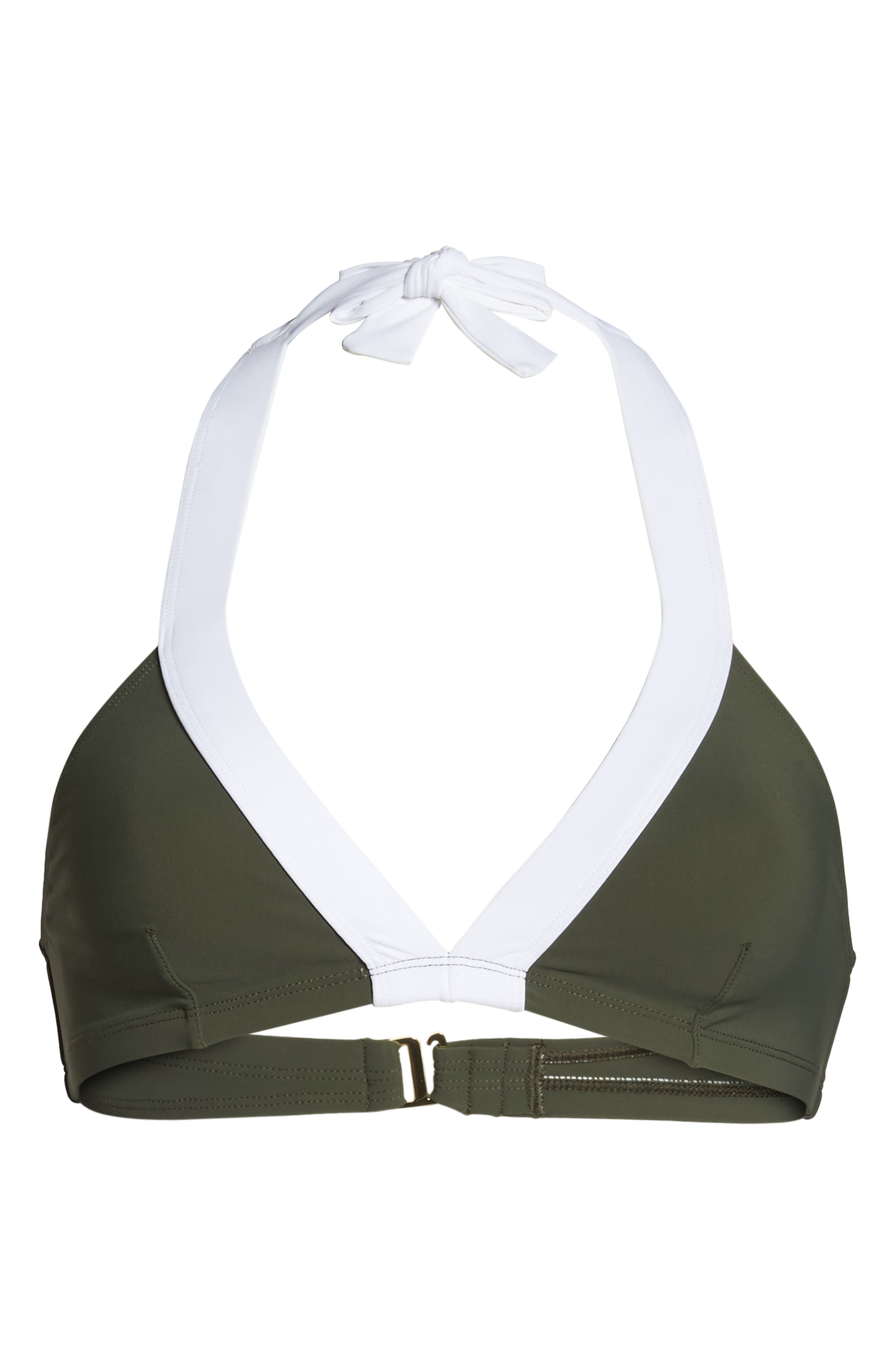Banded Halter Bikini Top,                             Alternate thumbnail 6, color,                             370