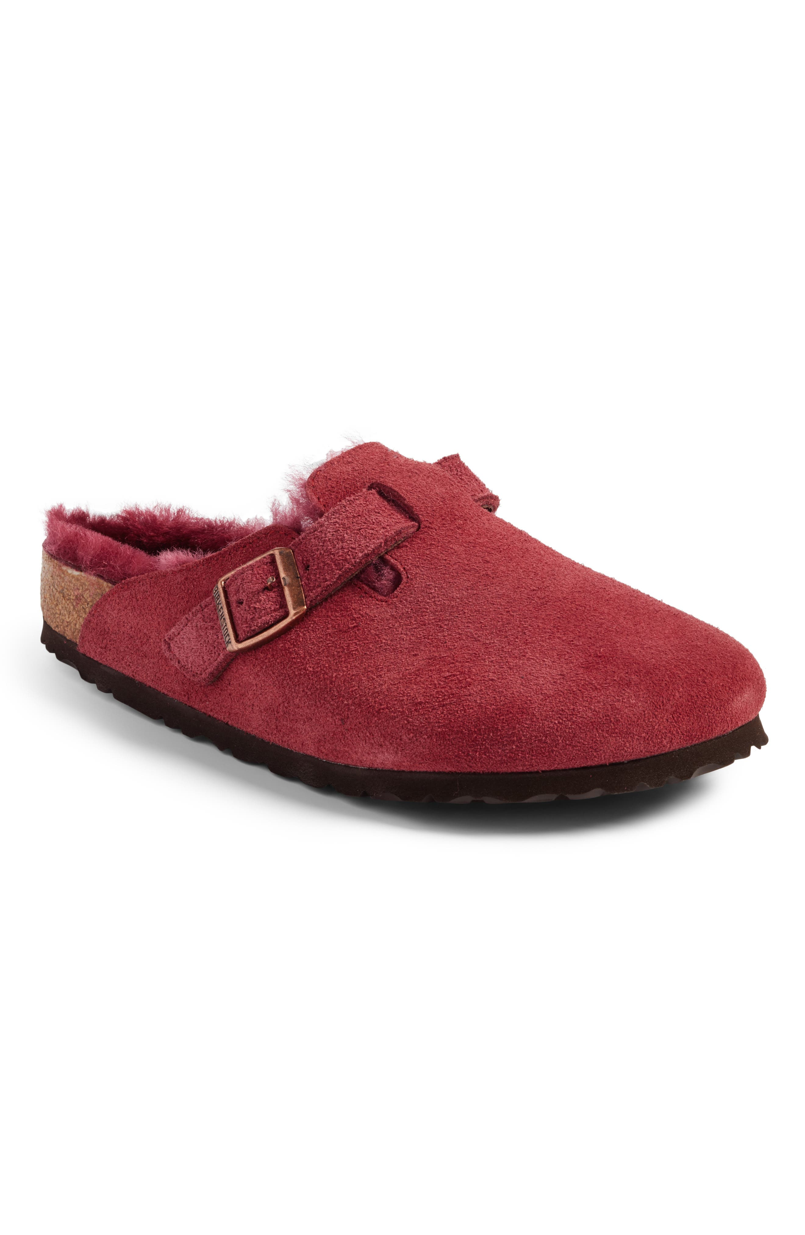 Boston Genuine Shearling Lined Clog,                         Main,                         color, 930