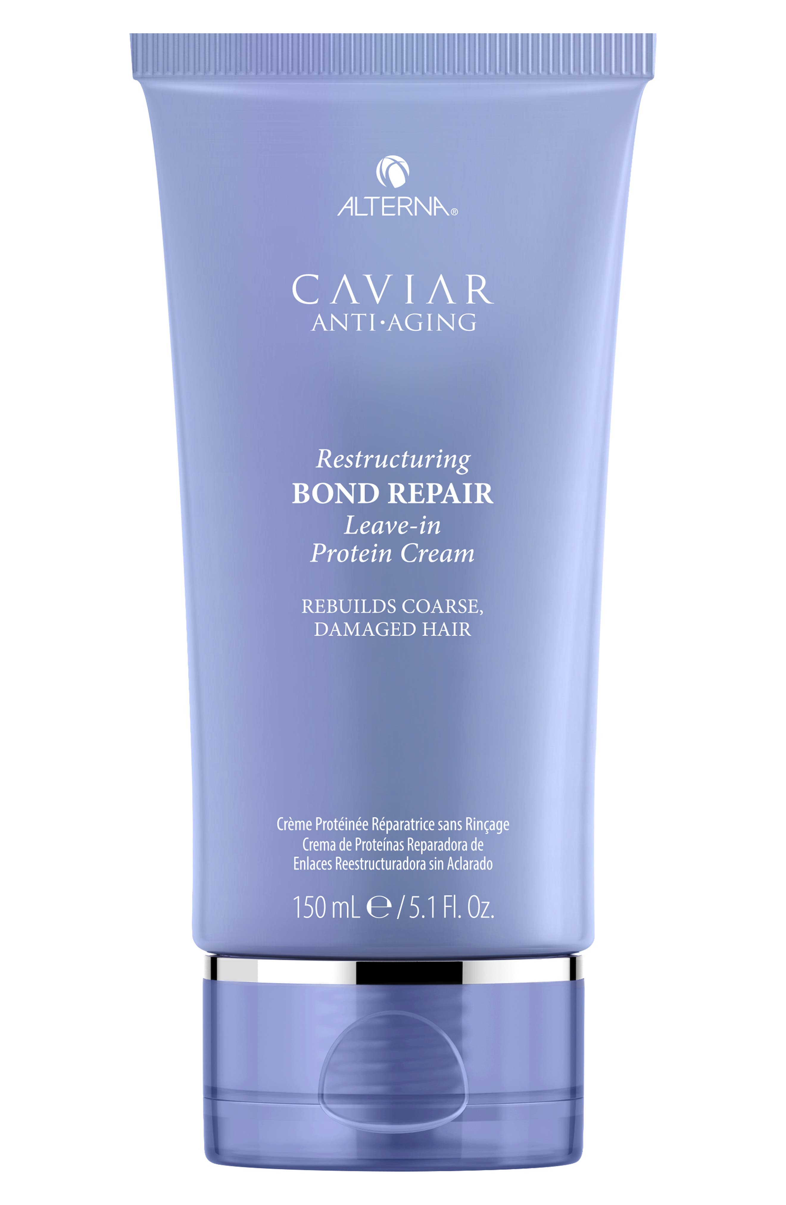 Caviar Anti-Aging Resturcuring Bond Repair Leave-in Protein Cream,                             Main thumbnail 1, color,                             NO COLOR