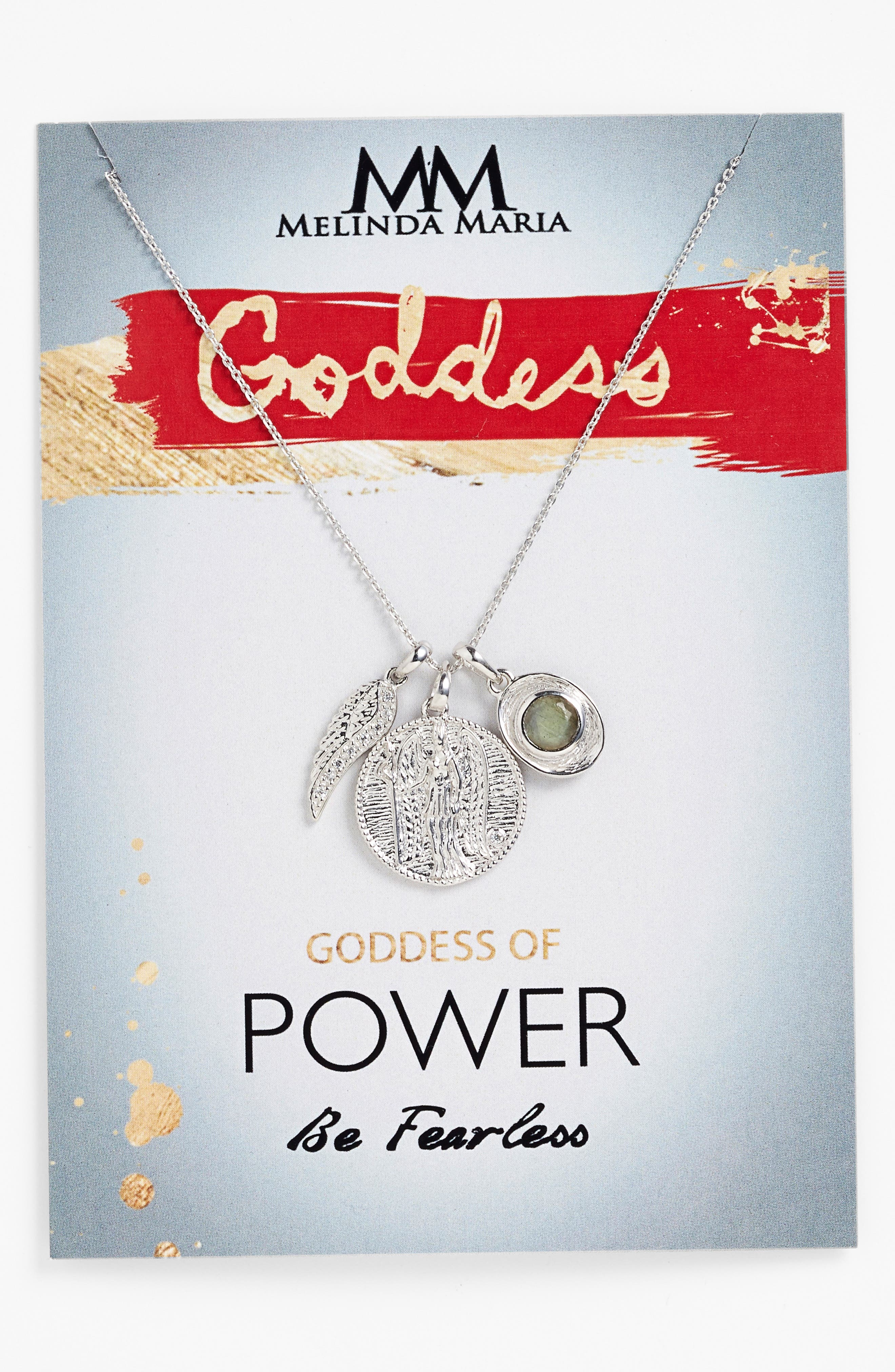 Goddess of Power Pendant Necklace,                             Alternate thumbnail 5, color,