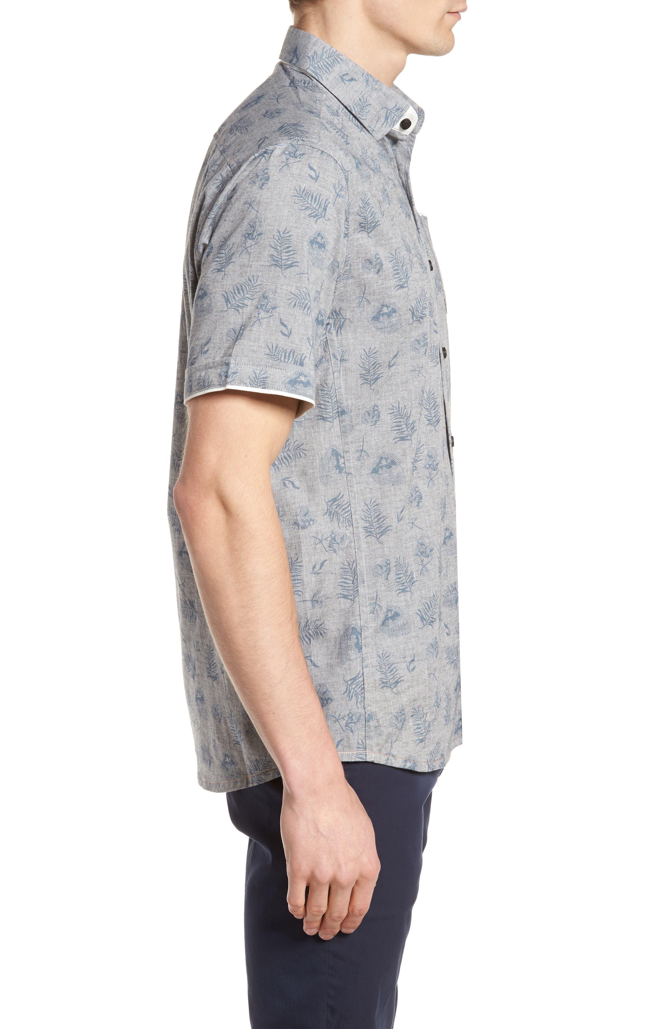 Rock Steady Woven Shirt,                             Alternate thumbnail 3, color,                             GREY