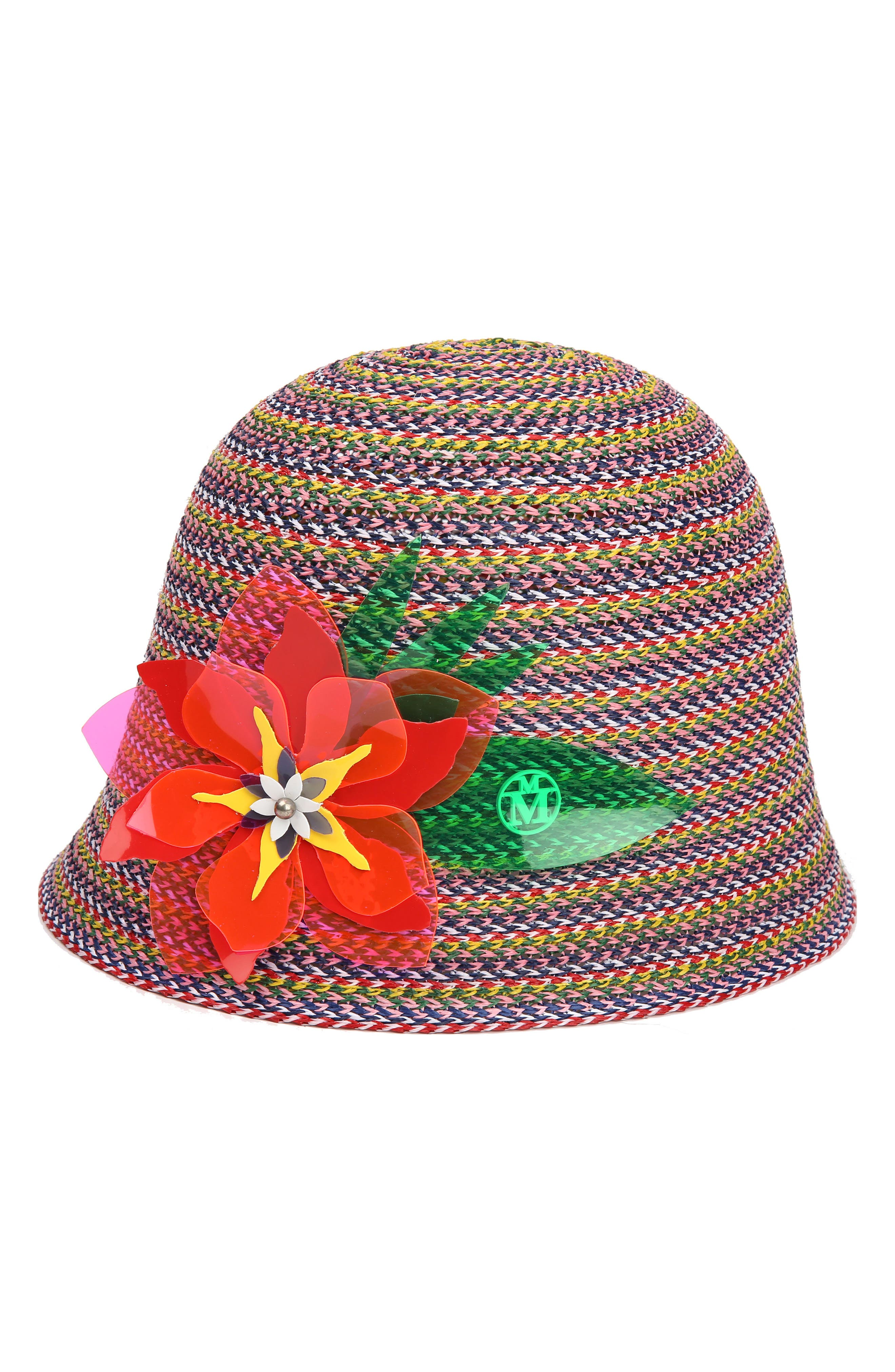 Jin Multicolor Straw Hat,                             Main thumbnail 1, color,                             600