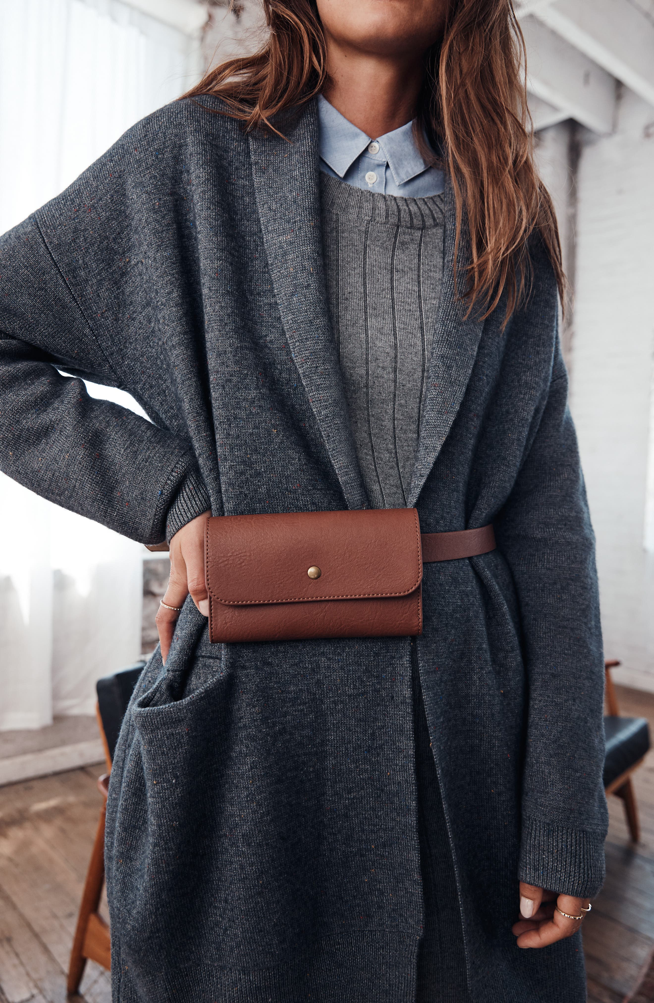 Ribbed Sweater Dress,                             Alternate thumbnail 8, color,                             GREY DARK HEATHER