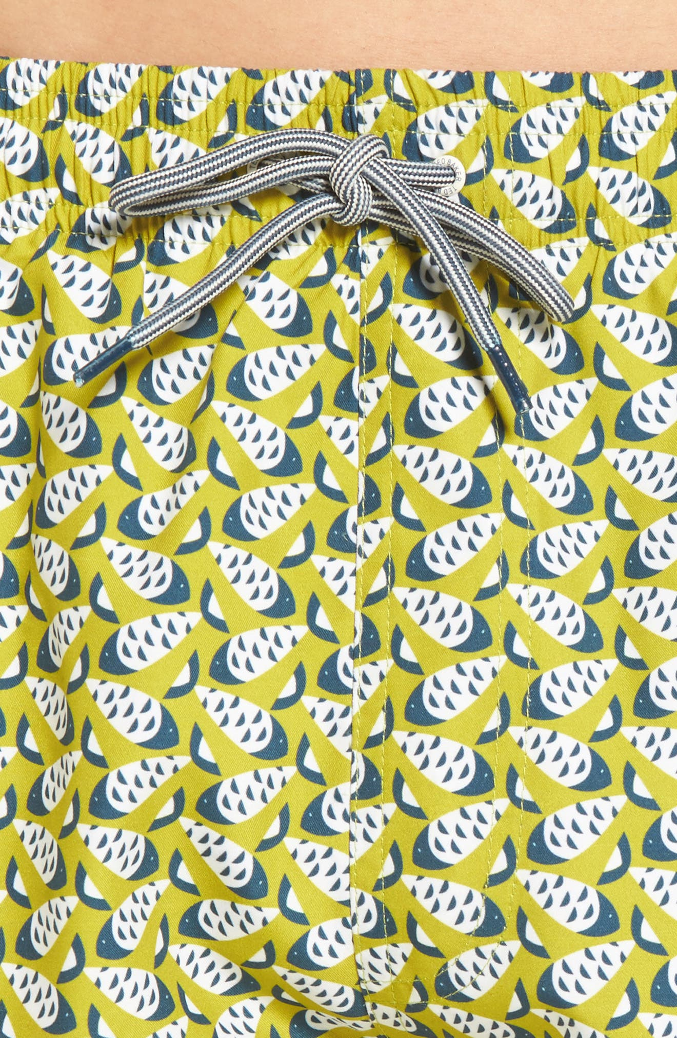 Loxham Fish Geo Print Swim Short,                             Alternate thumbnail 7, color,