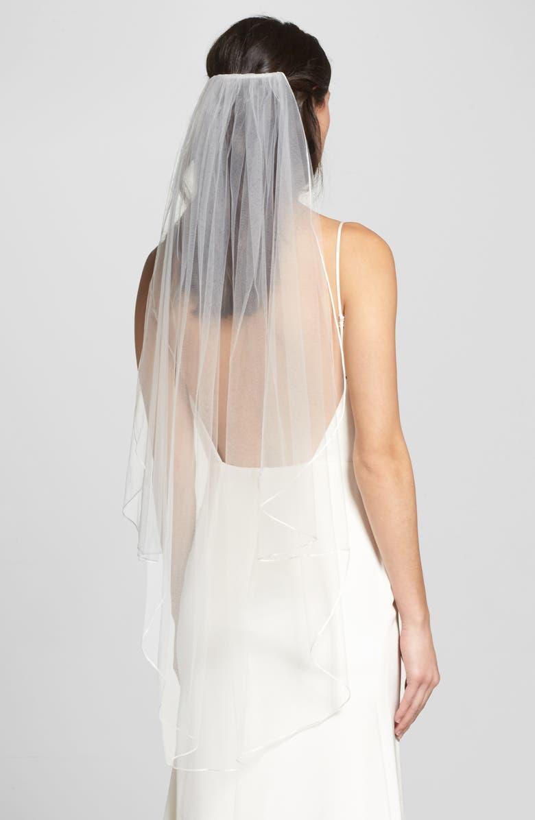 Fingertip Veil for short brides