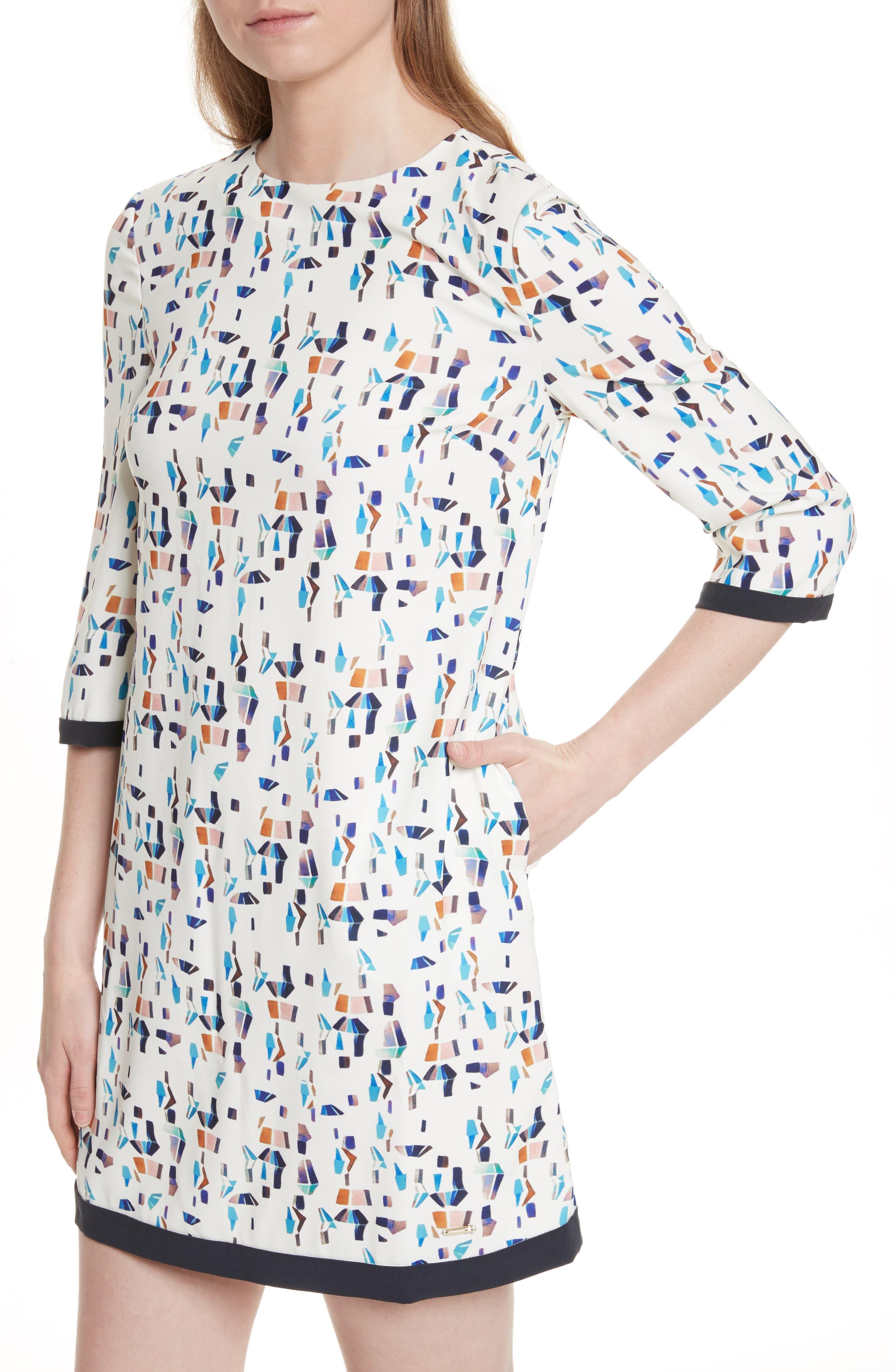 Limina Print Shift Dress,                             Alternate thumbnail 4, color,                             900
