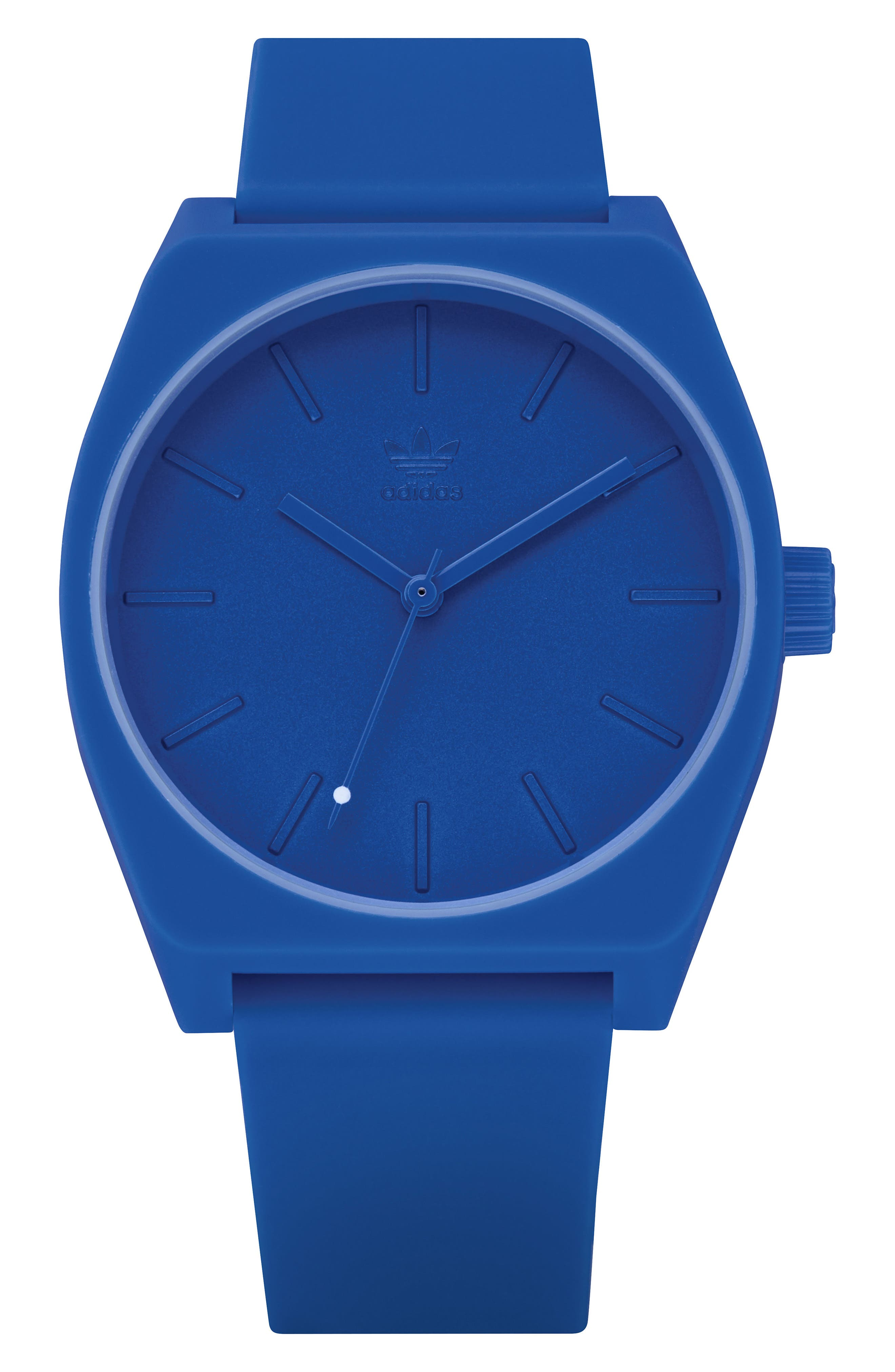 Process Silicone Strap Watch, 38mm,                             Main thumbnail 1, color,                             BLUE