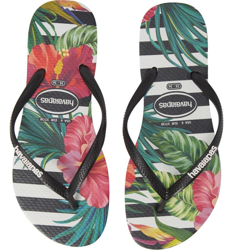 0917edd1cb41f1 Havaianas Slim Tropical Floral Flip Flop (Women)