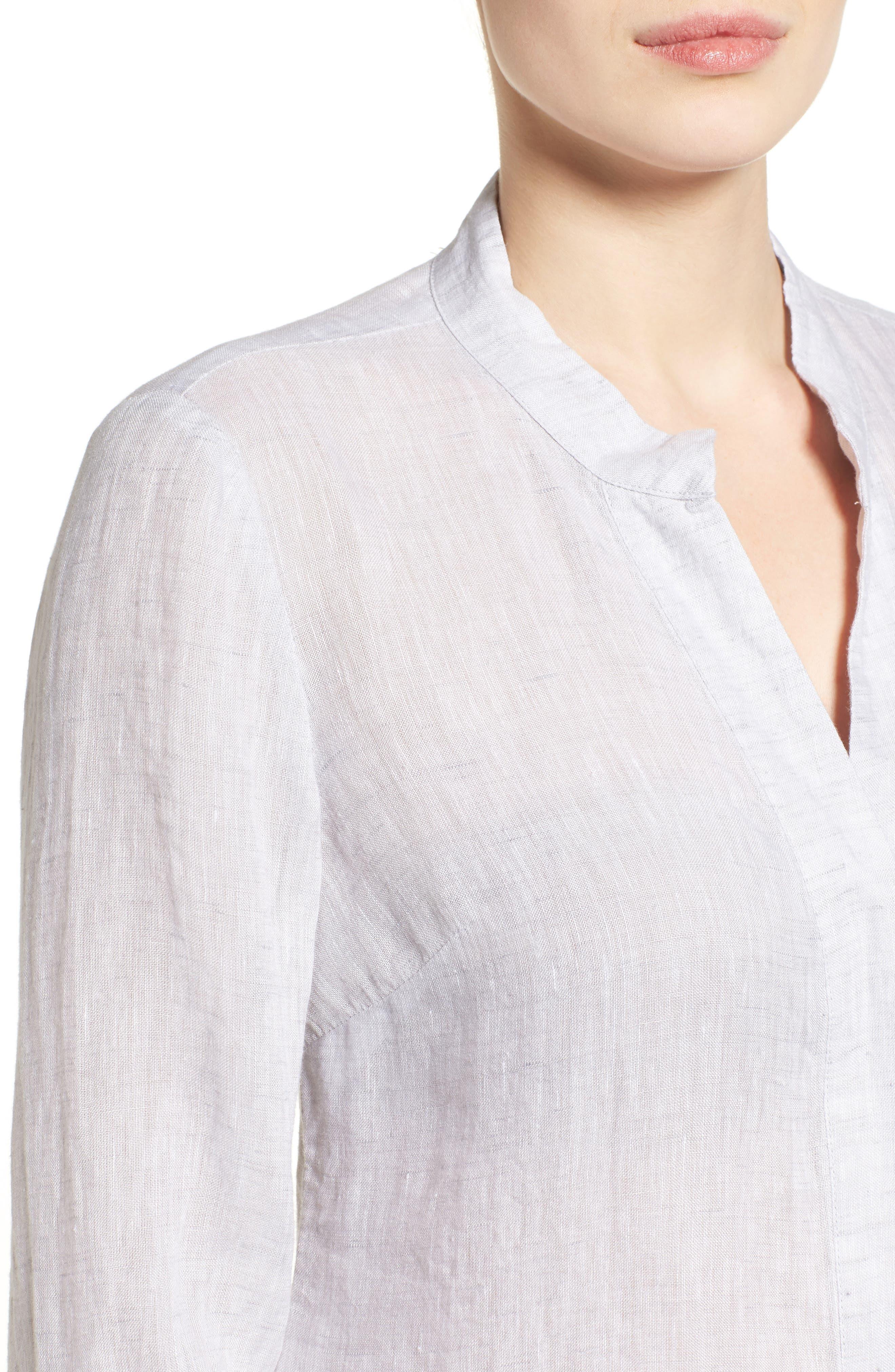 Drifty Linen Shirt,                             Alternate thumbnail 4, color,                             030