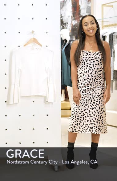 Bell Cuff Jewel Neck Sweater, sales video thumbnail