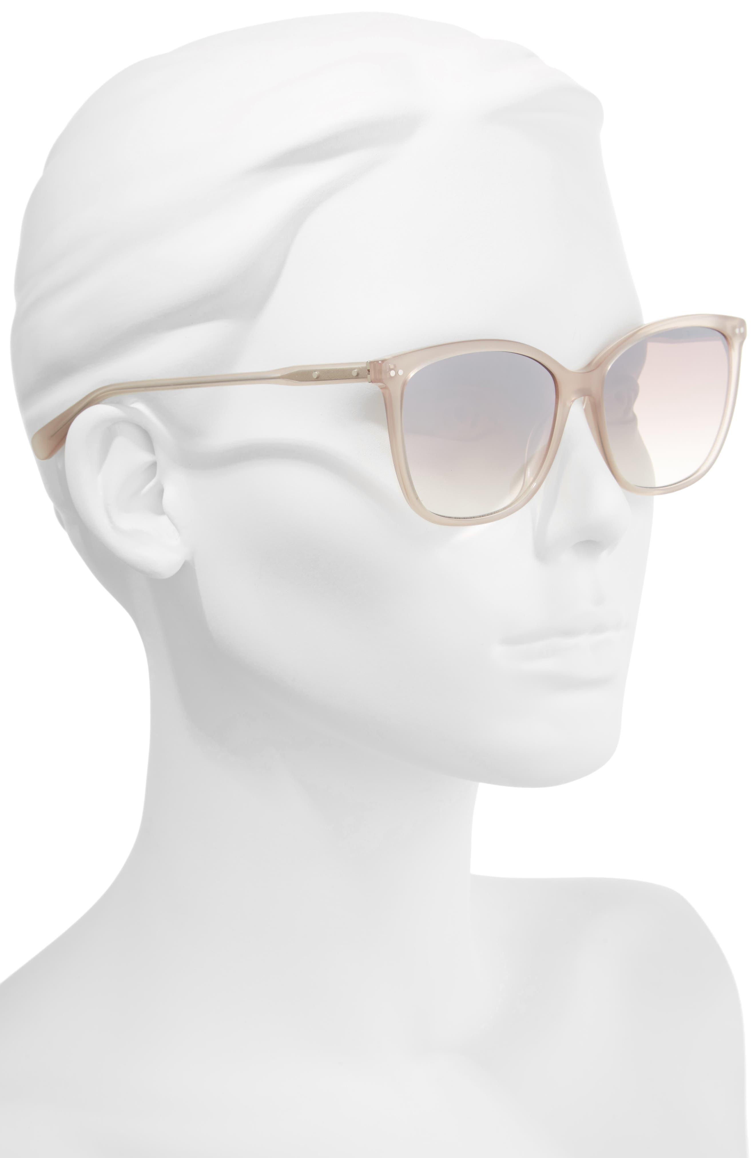 The Lara 56mm Cat Eye Sunglasses,                             Alternate thumbnail 6, color,