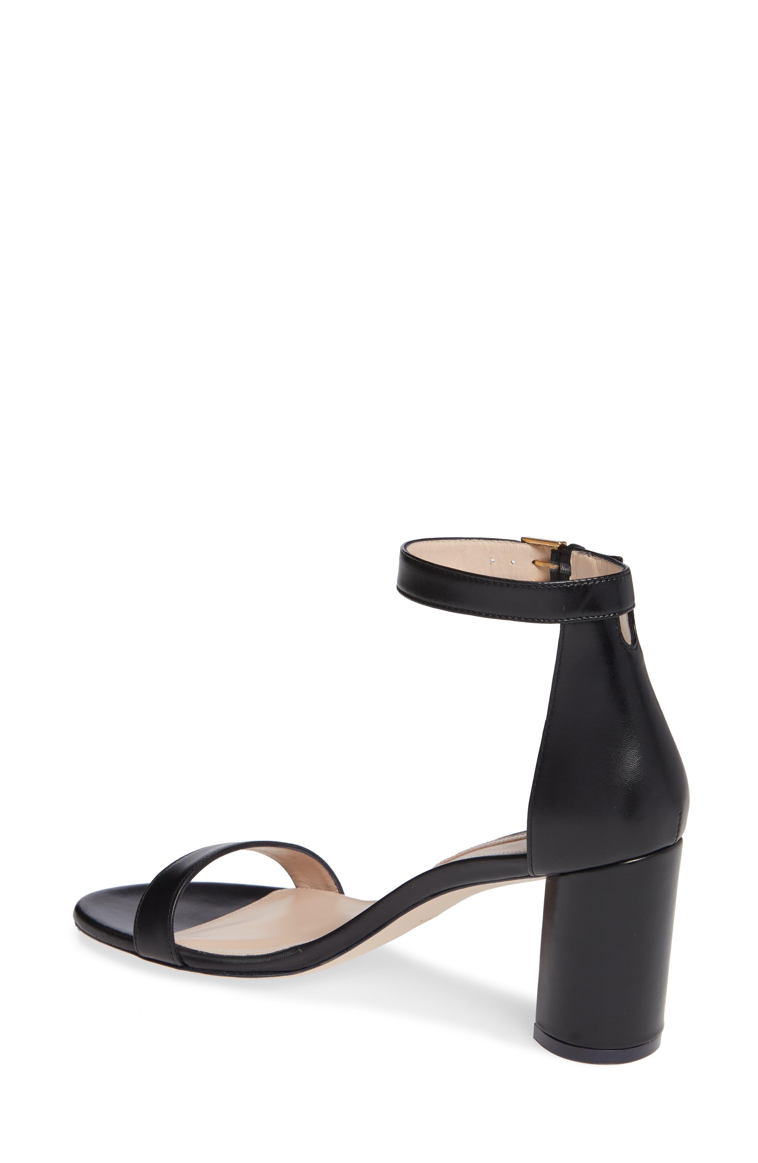 75LESSNUDIST Ankle Strap Sandal,                             Alternate thumbnail 2, color,                             BLACK NAPPA