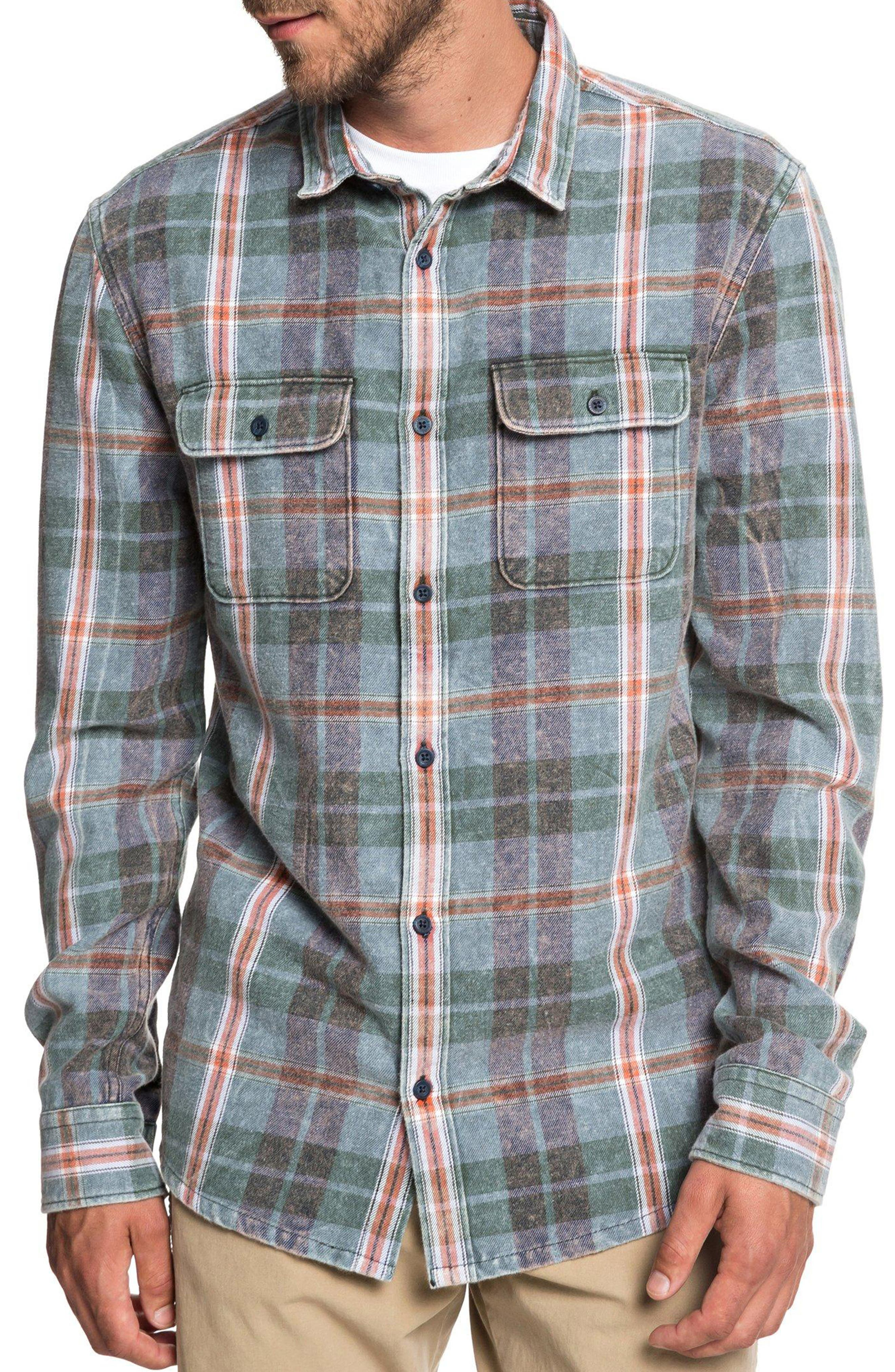 Quiksilver Super Tang Flannel Shirt, Blue