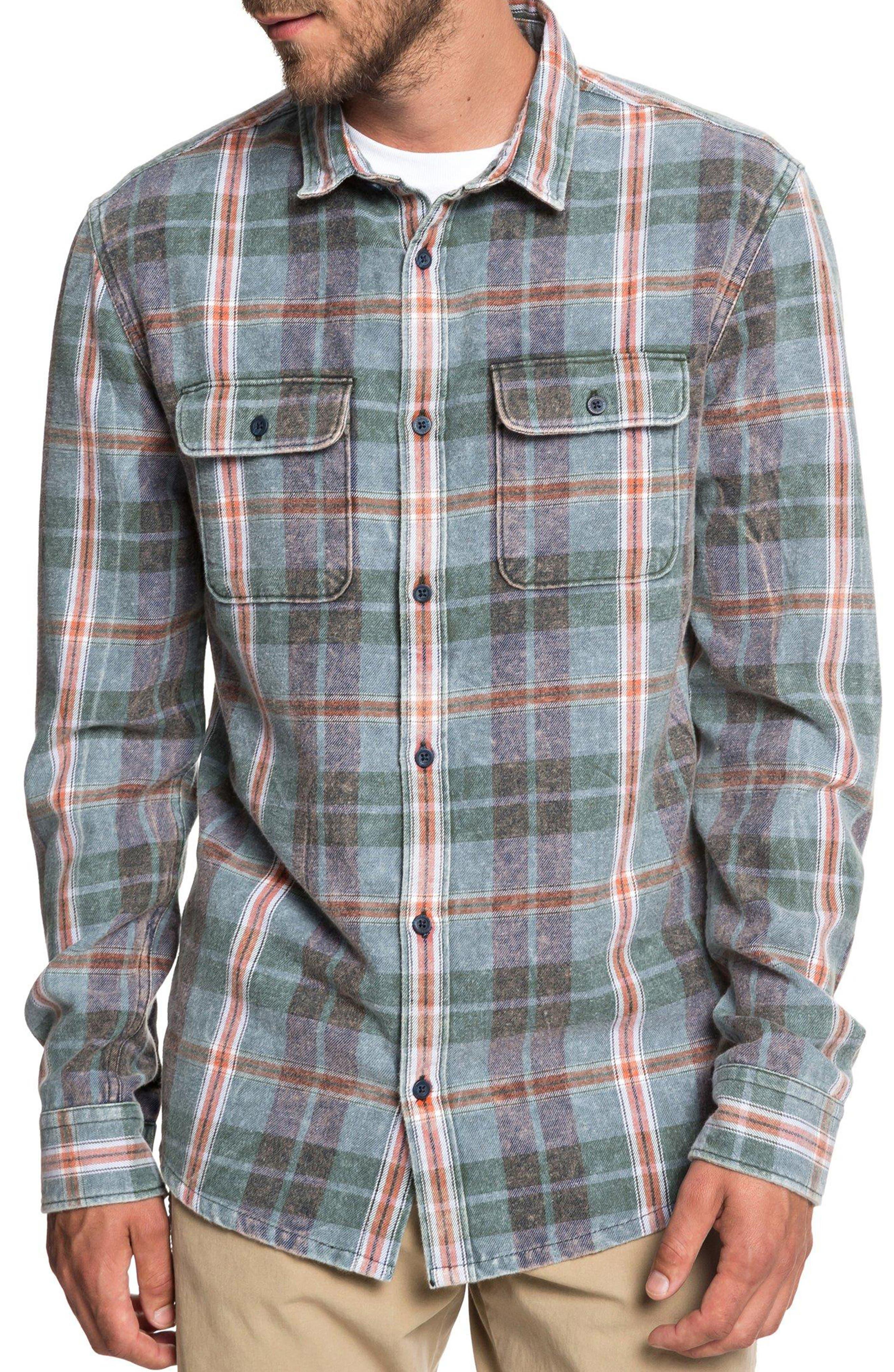 Super Tang Flannel Shirt, Main, color, STONE WASH TANG