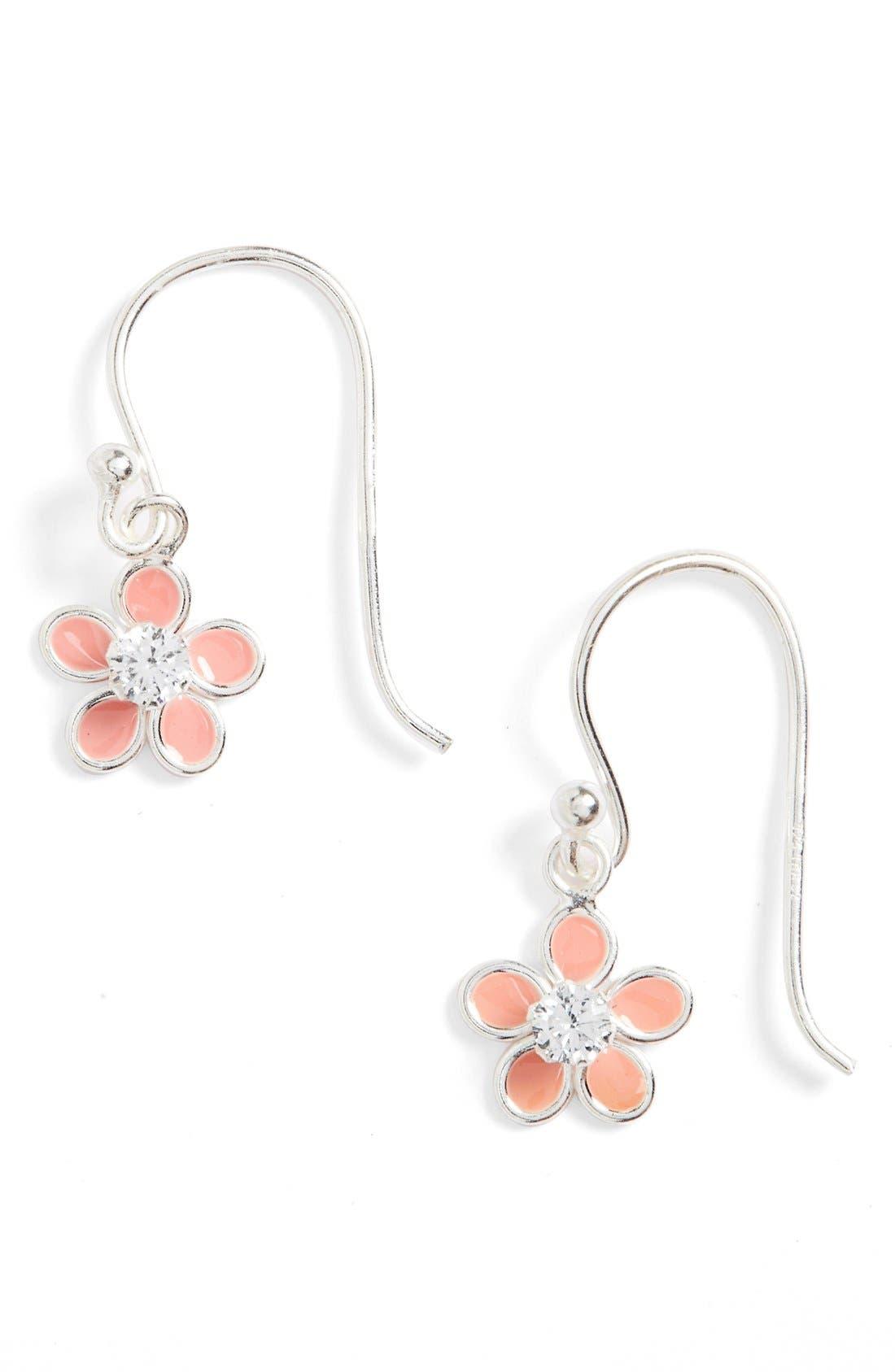 'Flower' Earrings,                         Main,                         color, SILVER