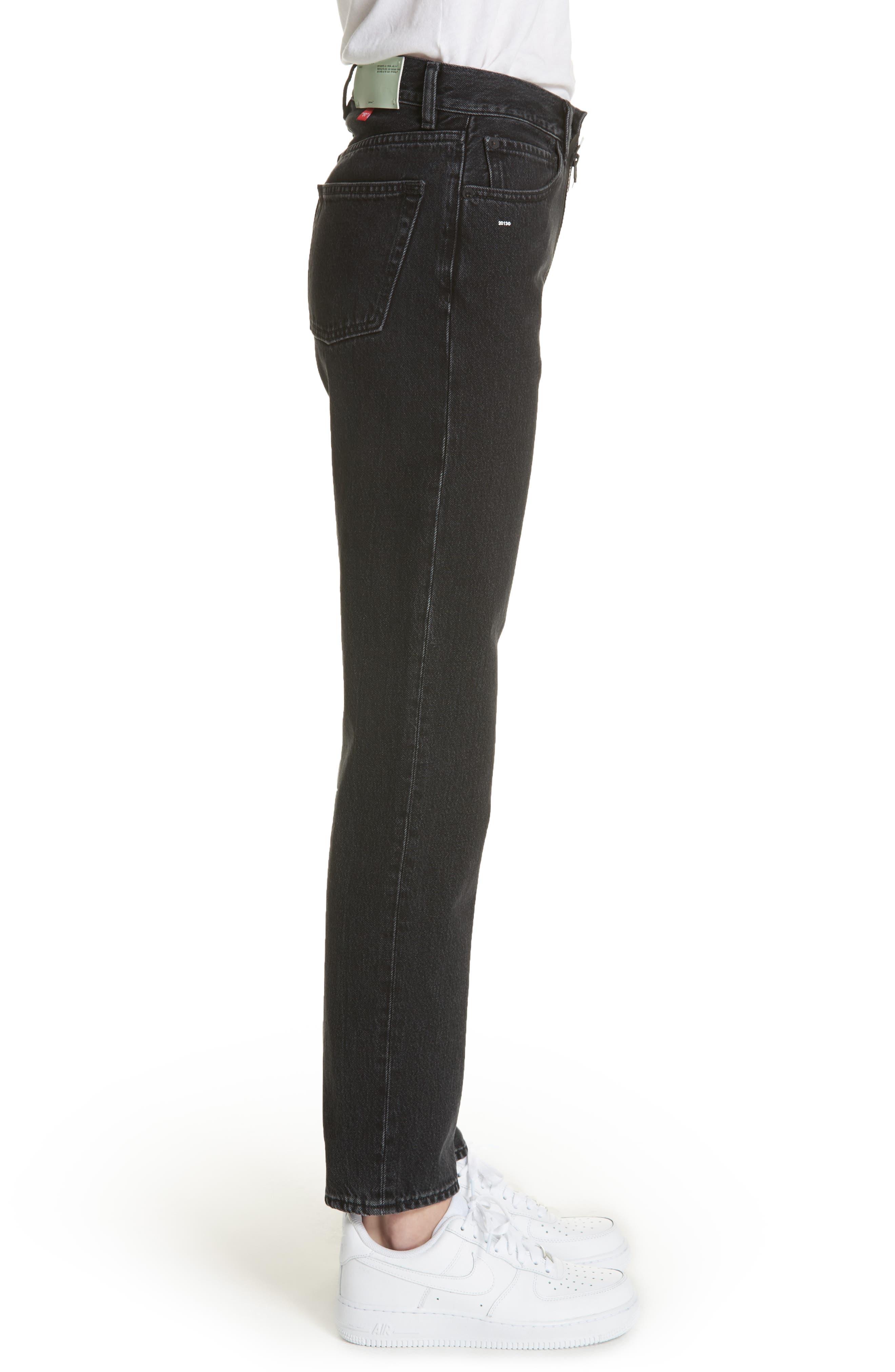 Classic Straight Leg Jeans,                             Alternate thumbnail 3, color,                             001