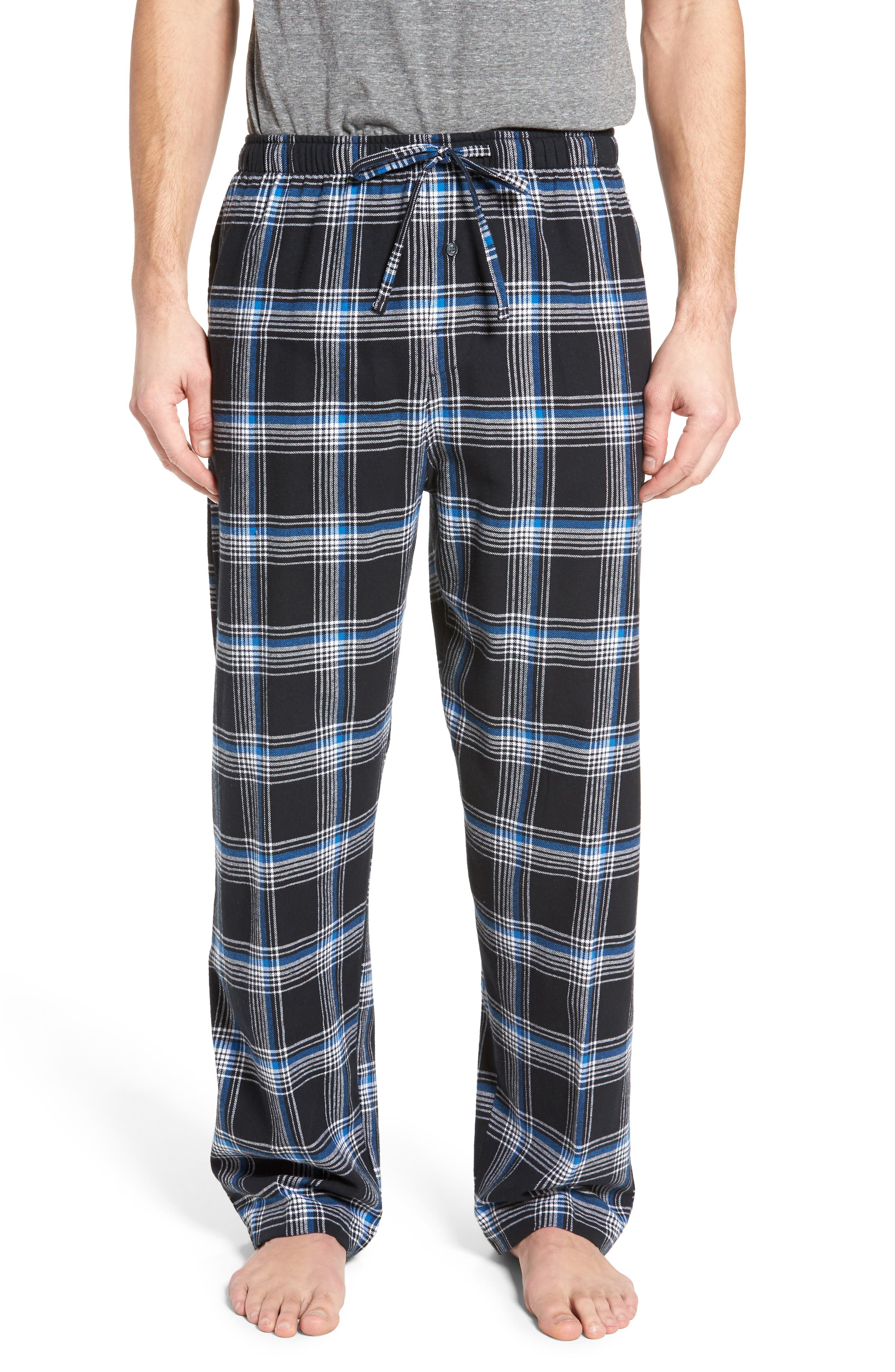 Flannel Pajama Pants,                             Main thumbnail 6, color,