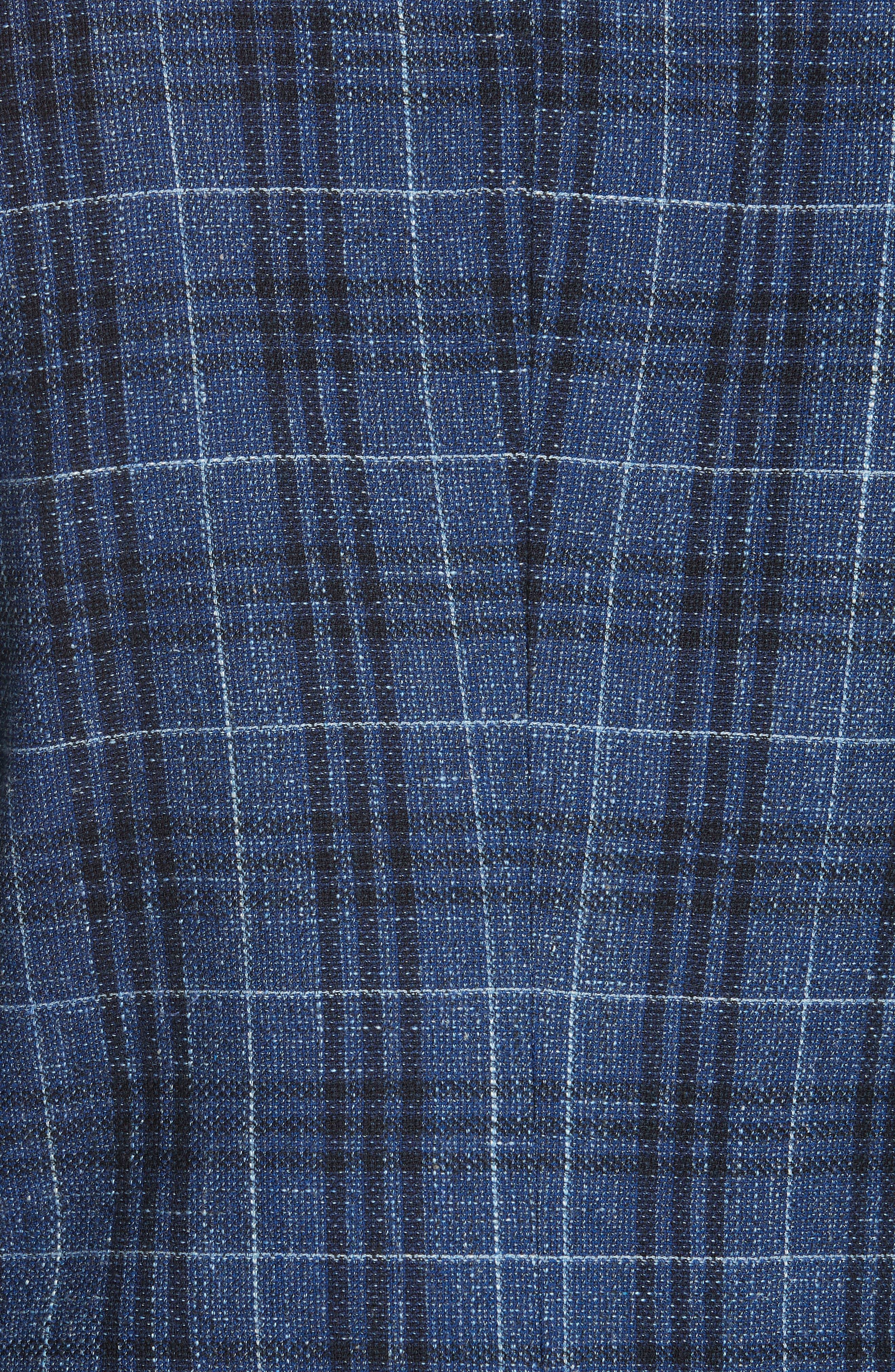 VERONICA BEARD,                             Miller Wool Blend Plaid Dickey Jacket,                             Alternate thumbnail 7, color,                             BLUE