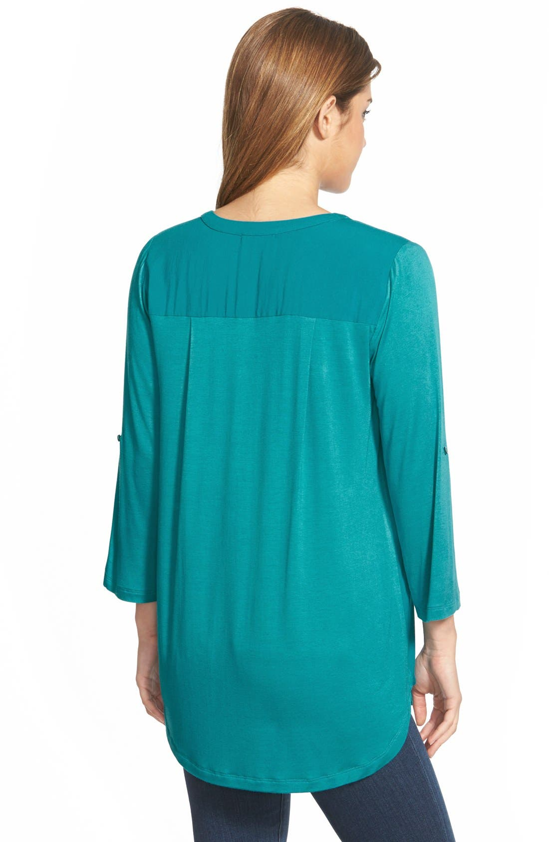 Mixed Media V-Neck Tunic,                             Alternate thumbnail 88, color,