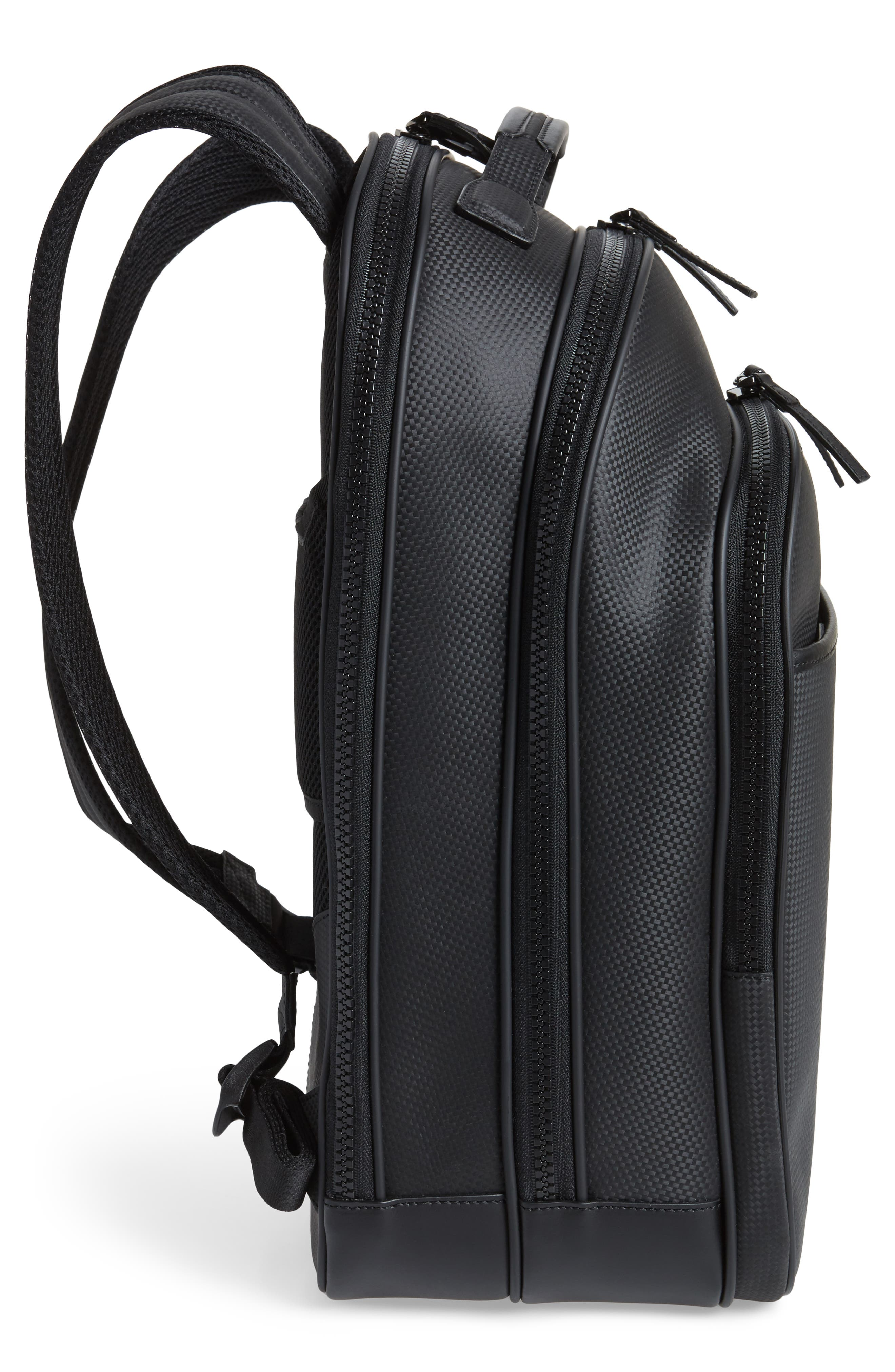 Extreme Leather Backpack,                             Alternate thumbnail 5, color,                             BLACK