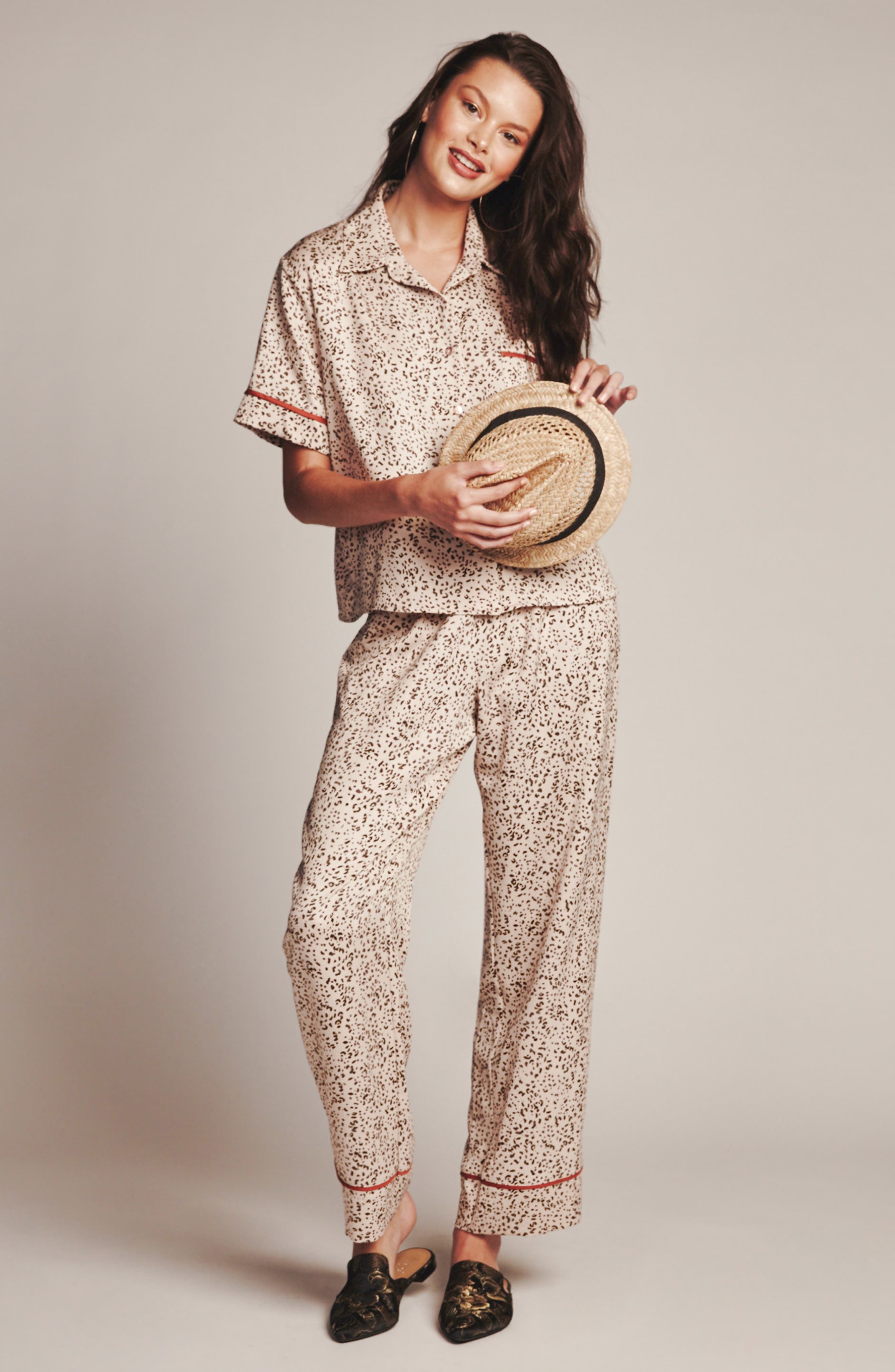 Dolce Pajamas,                             Alternate thumbnail 4, color,                             DOLCE TAUPE ANIMAL PRINT