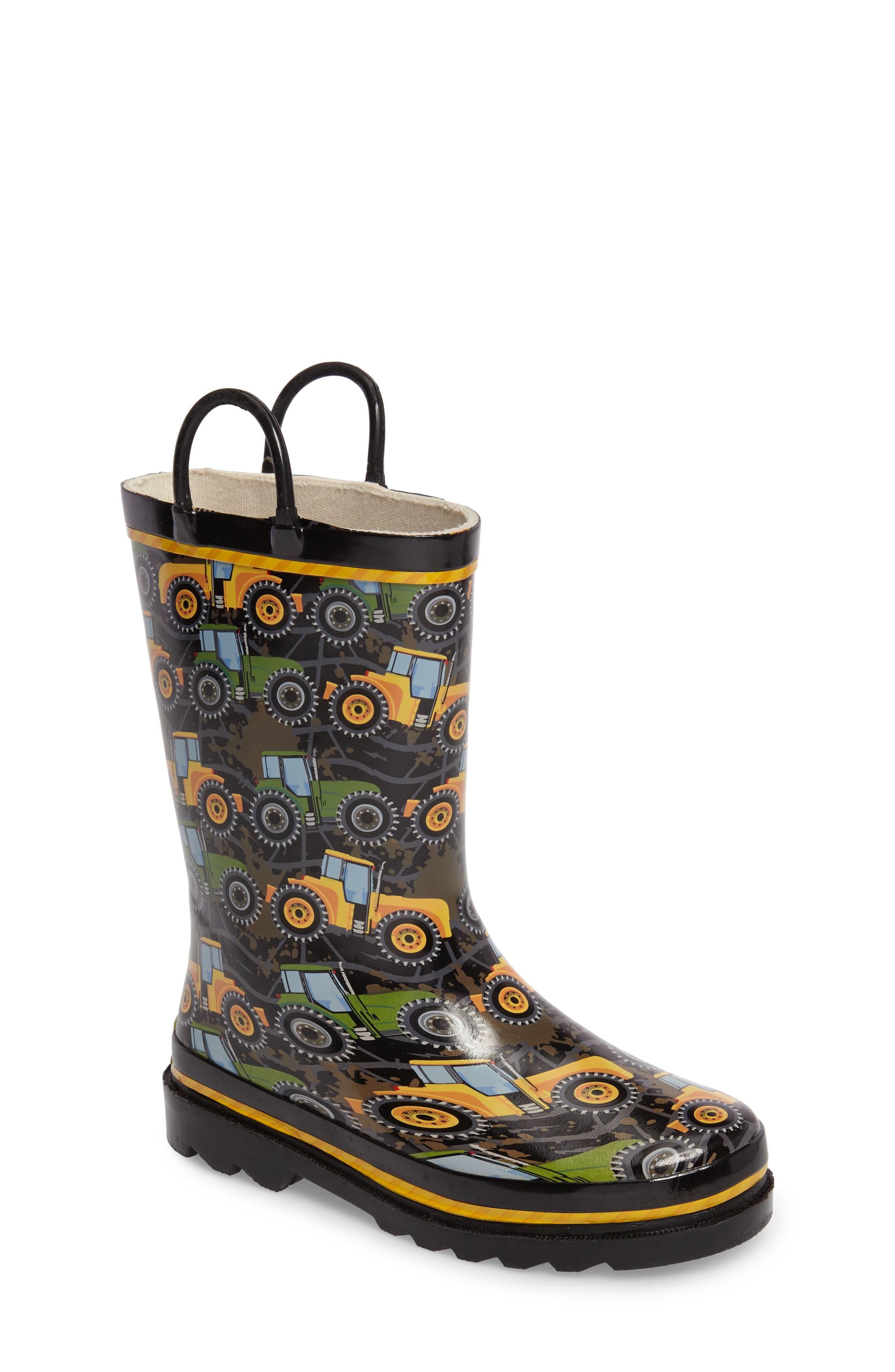 Tractor Tough Rain Boot,                         Main,                         color, 001