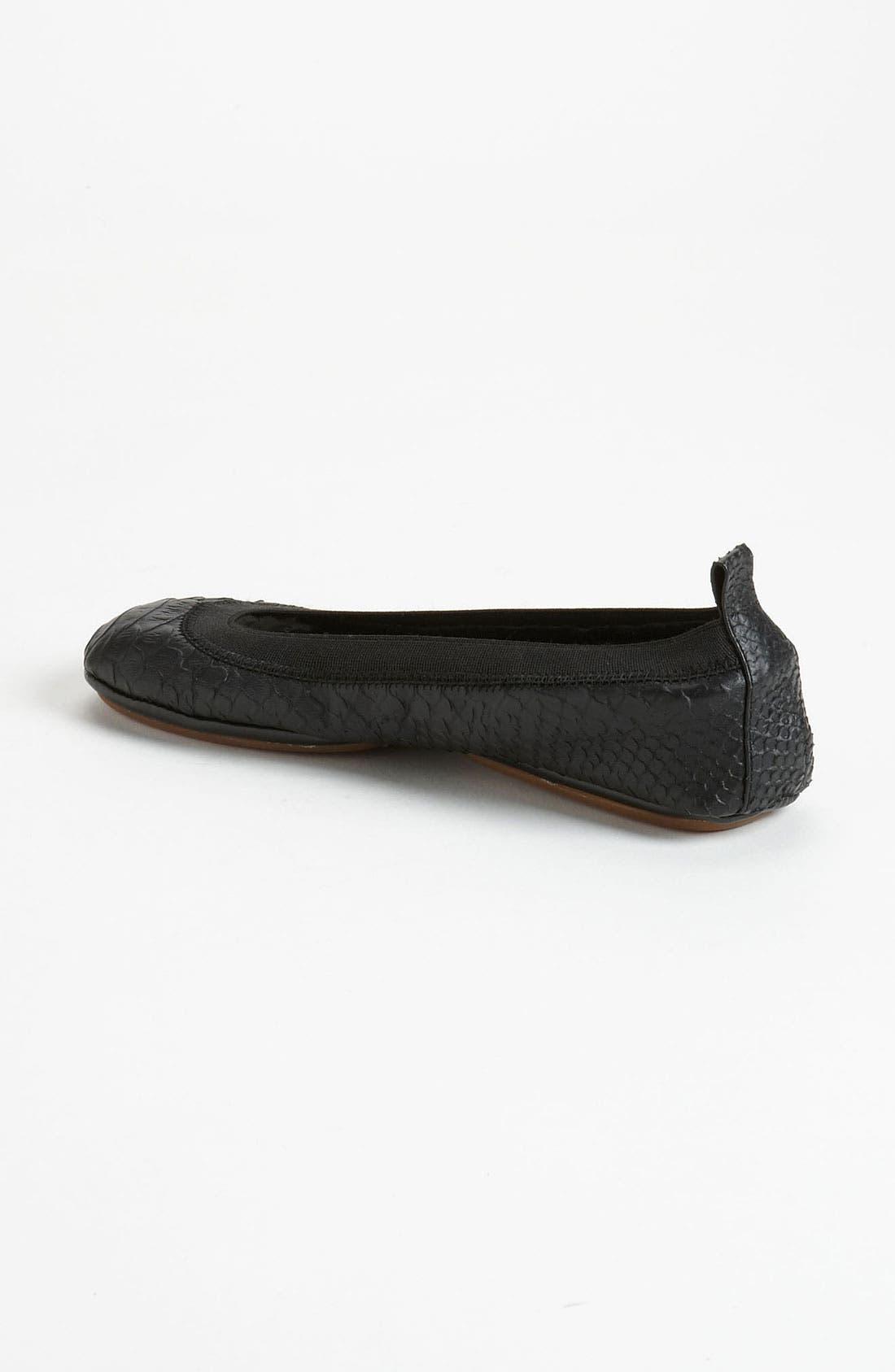 YOSI SAMRA,                             Foldable Ballet Flat,                             Alternate thumbnail 2, color,                             001