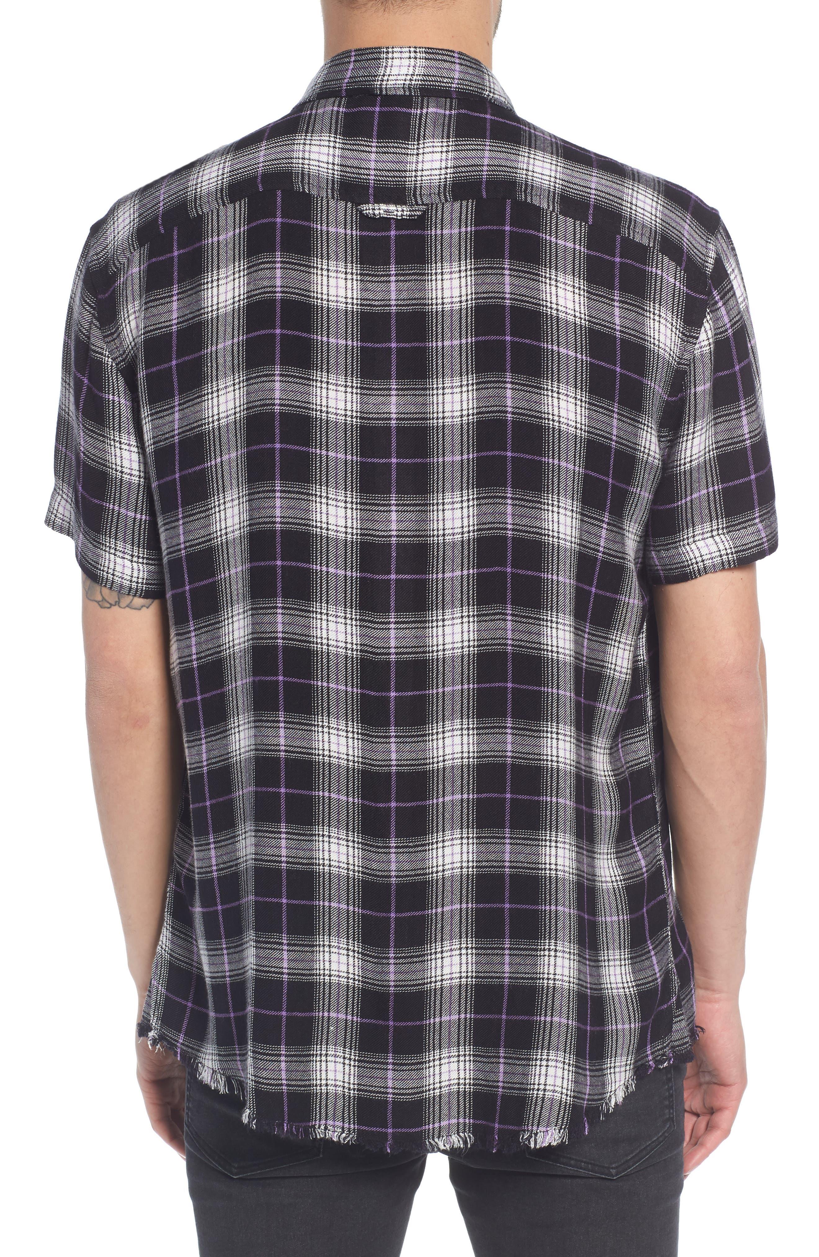 Drapey Plaid Short Sleeve Shirt,                             Alternate thumbnail 2, color,                             BLACK ROCK CODY PLAID