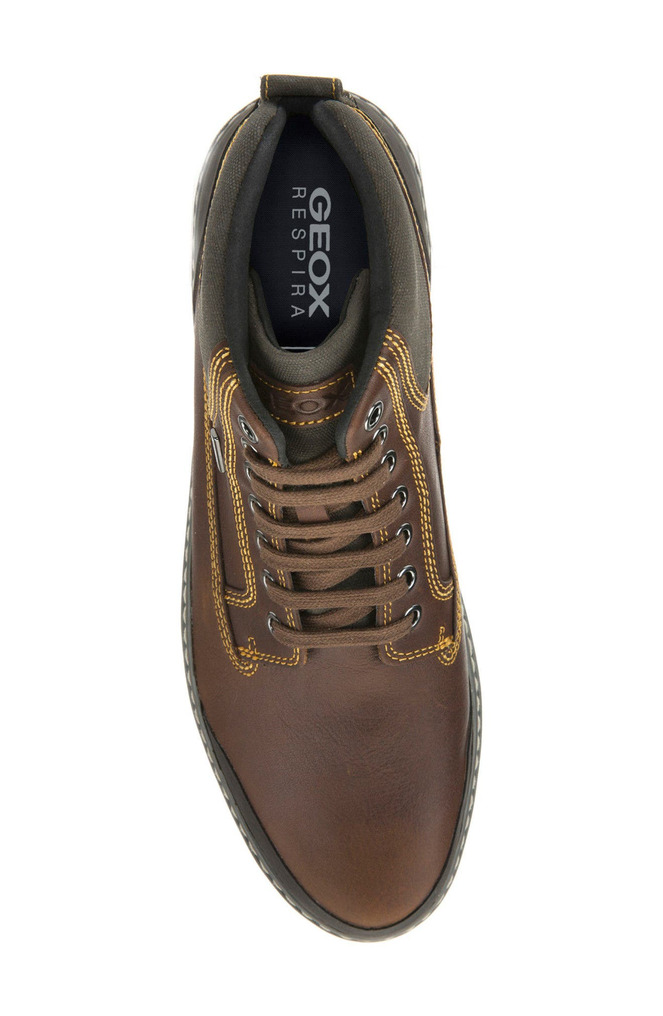 Mattias Amphibiox Waterproof Leather Sneaker,                             Alternate thumbnail 5, color,                             BROWN/ BROWN