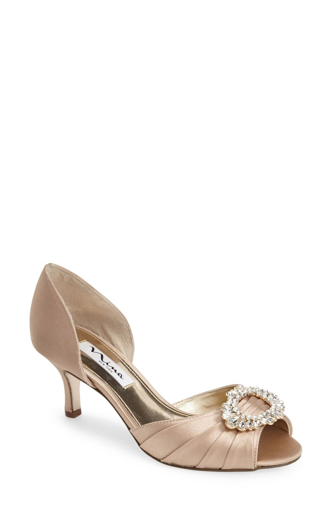 'Crystah' Embellished Satin Pump,                         Main,                         color, 291