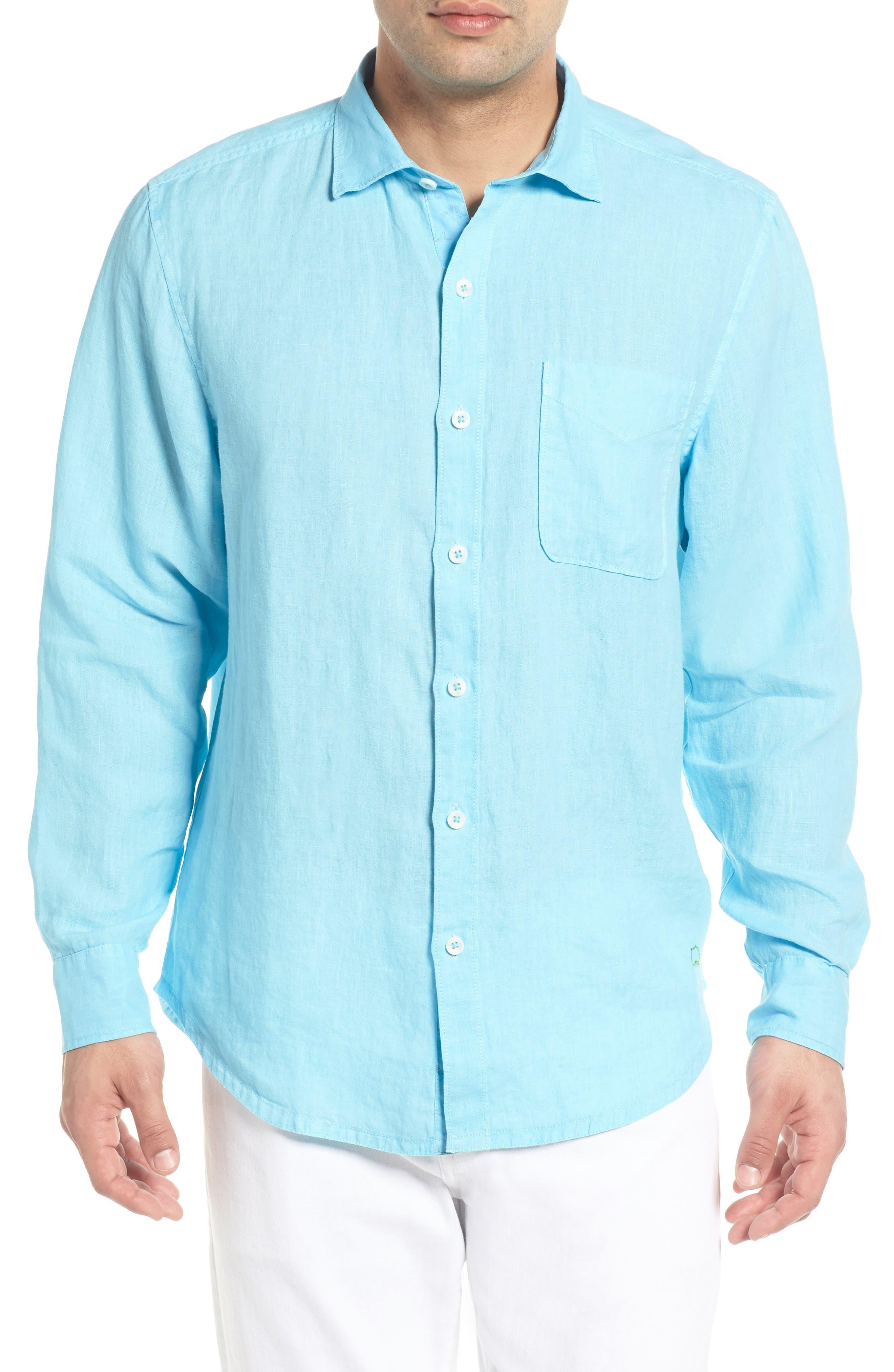 Seaspray Breezer Linen Shirt,                             Main thumbnail 4, color,