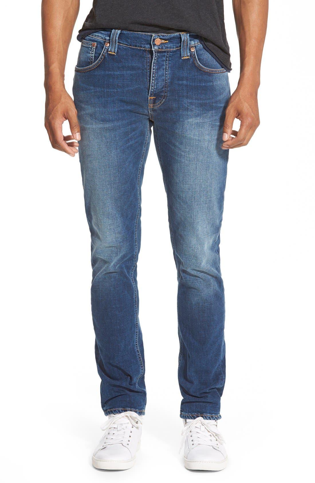 NUDIE JEANS,                             'Grim Tim' Slim Fit Stretch Organic Cotton Jeans,                             Main thumbnail 1, color,                             462