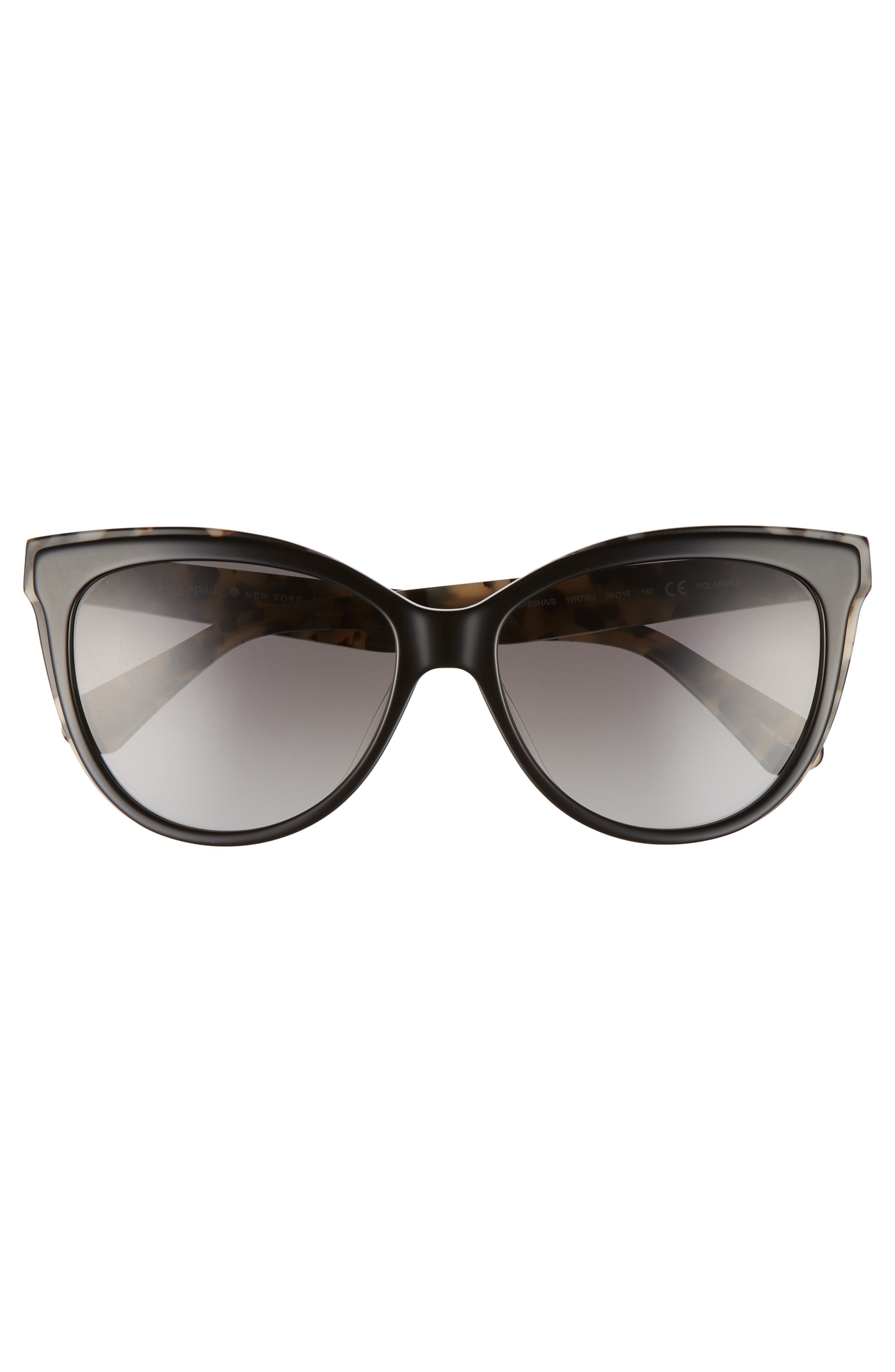 daeshas 56mm cat eye sunglasses,                             Alternate thumbnail 3, color,                             BLACK HAVANA POLAR