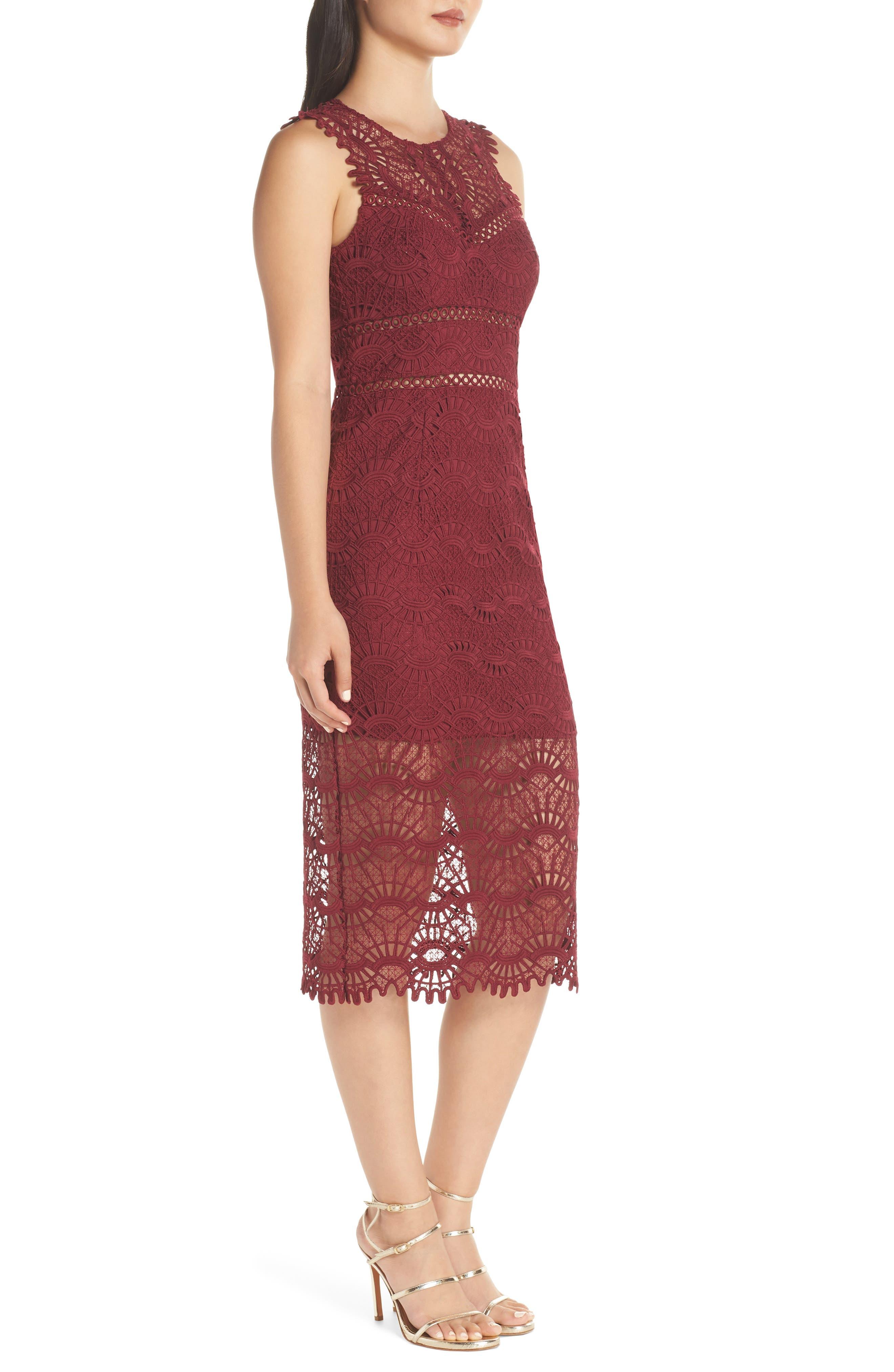 Mariano Lace Sheath Dress,                             Alternate thumbnail 3, color,                             601