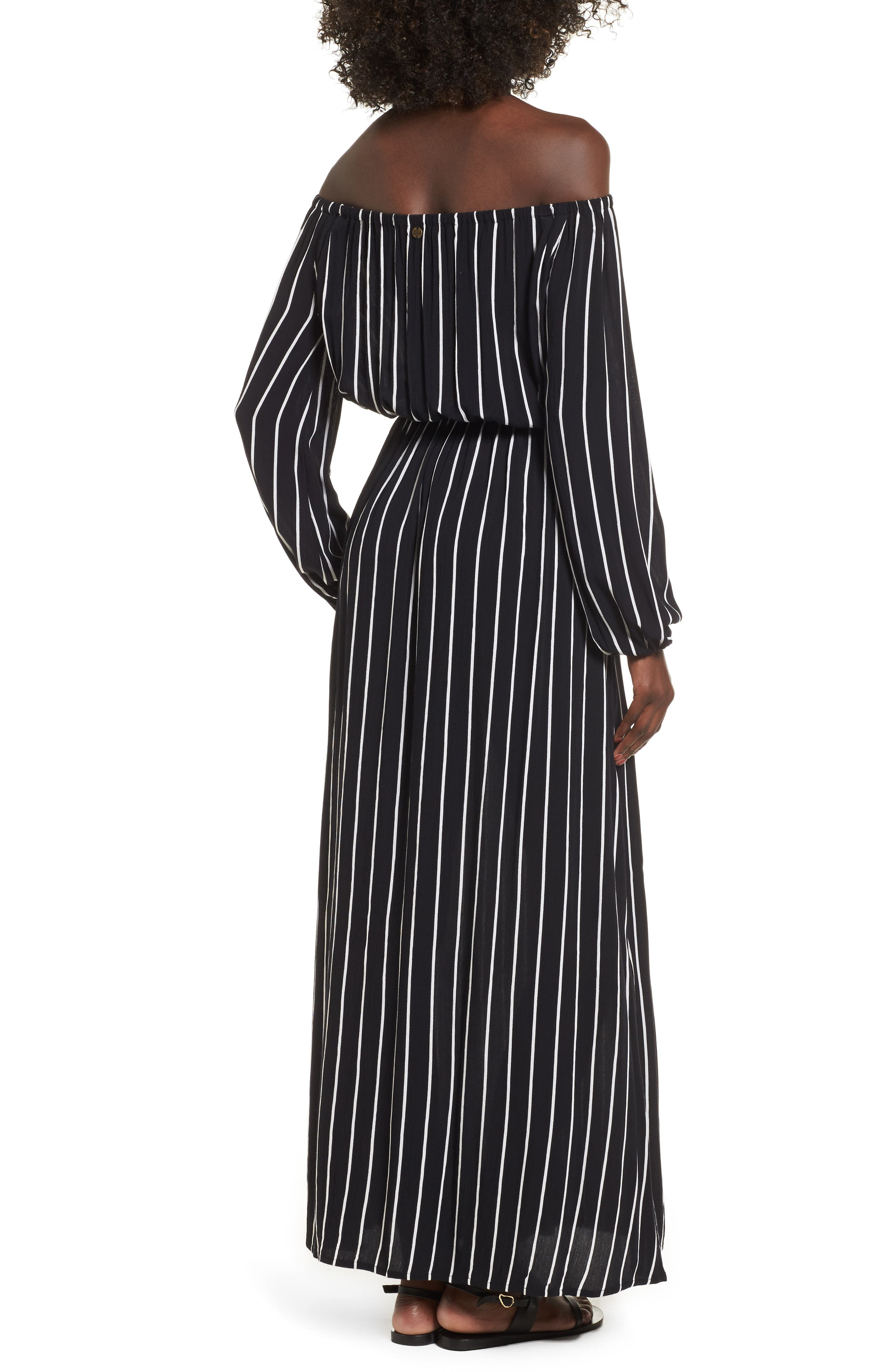 Crystal Ball Off the Shoulder Maxi Dress,                             Alternate thumbnail 2, color,                             001