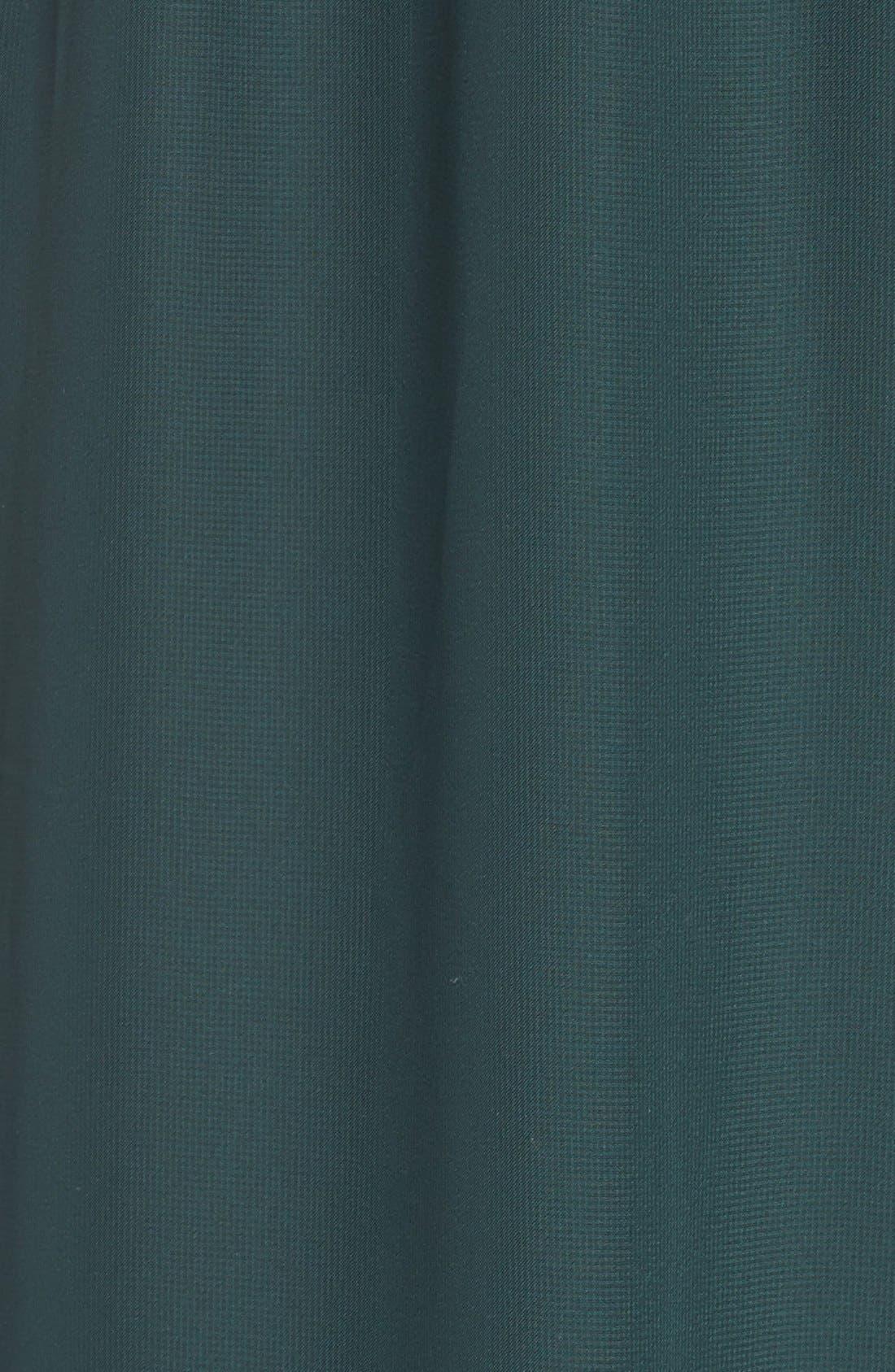 'Dani' Ruffle Neck V-Neck Halter Gown,                             Alternate thumbnail 10, color,