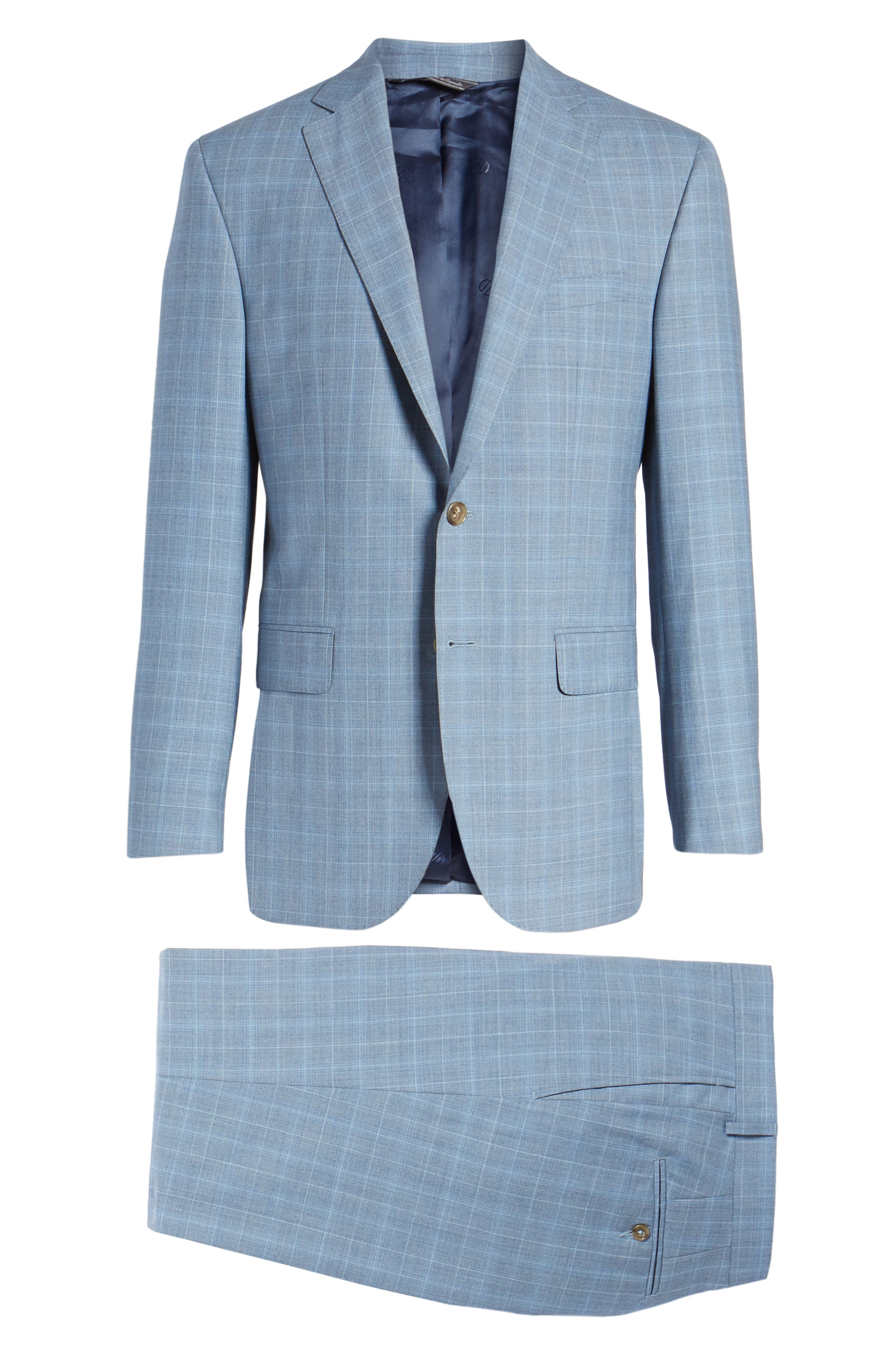 Ryan Classic Fit Plaid Wool Suit,                             Alternate thumbnail 8, color,                             400