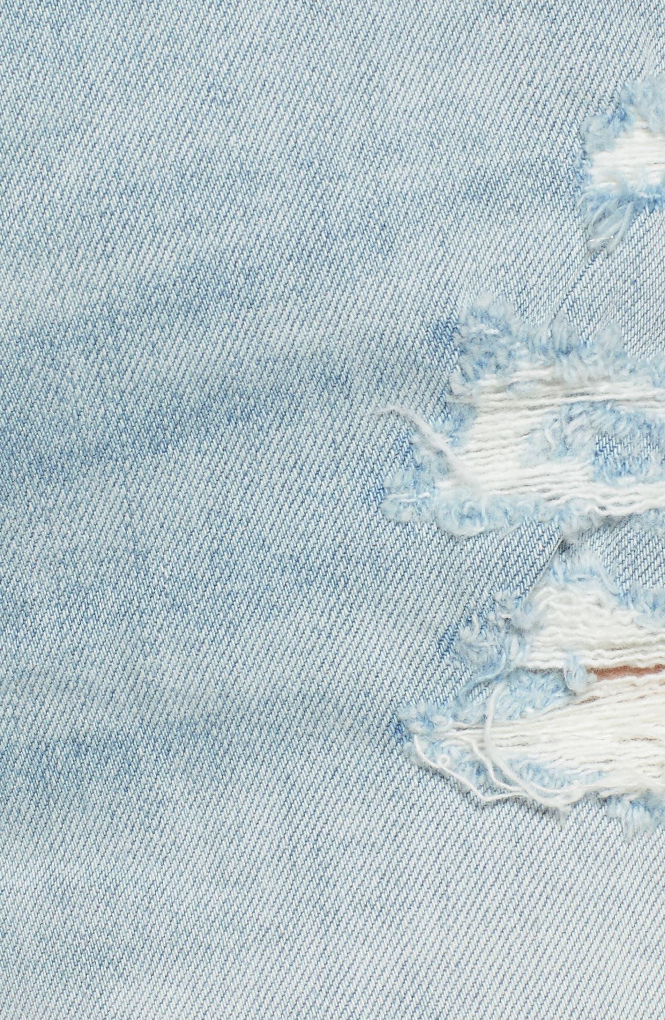 High Waist Boyfriend Cutoff Shorts,                             Alternate thumbnail 6, color,                             400