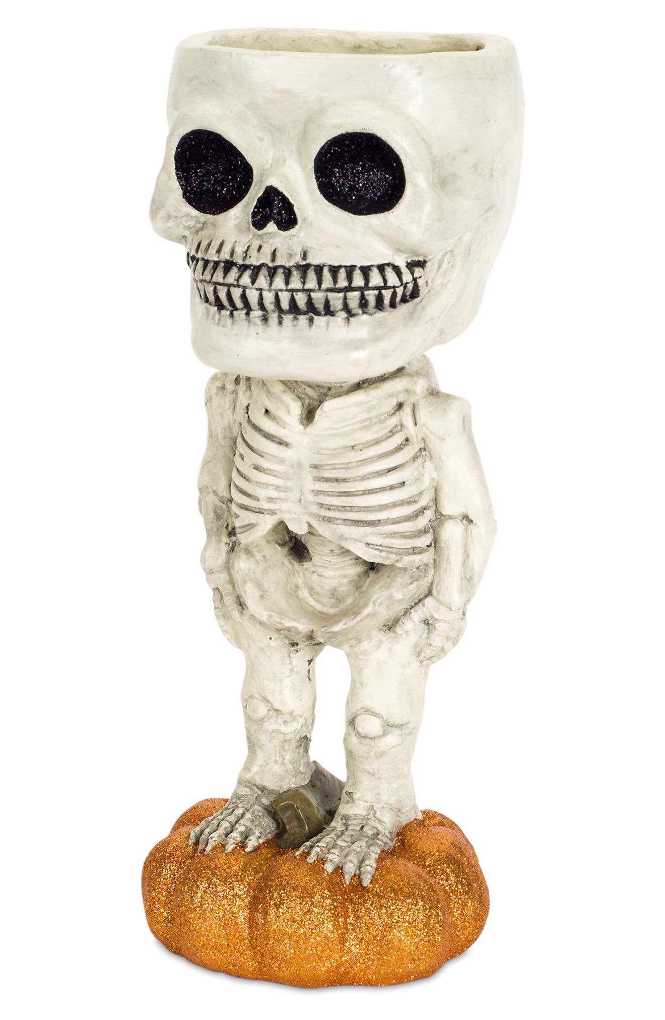Halloween Skeleton Candy Dish,                             Main thumbnail 1, color,                             100