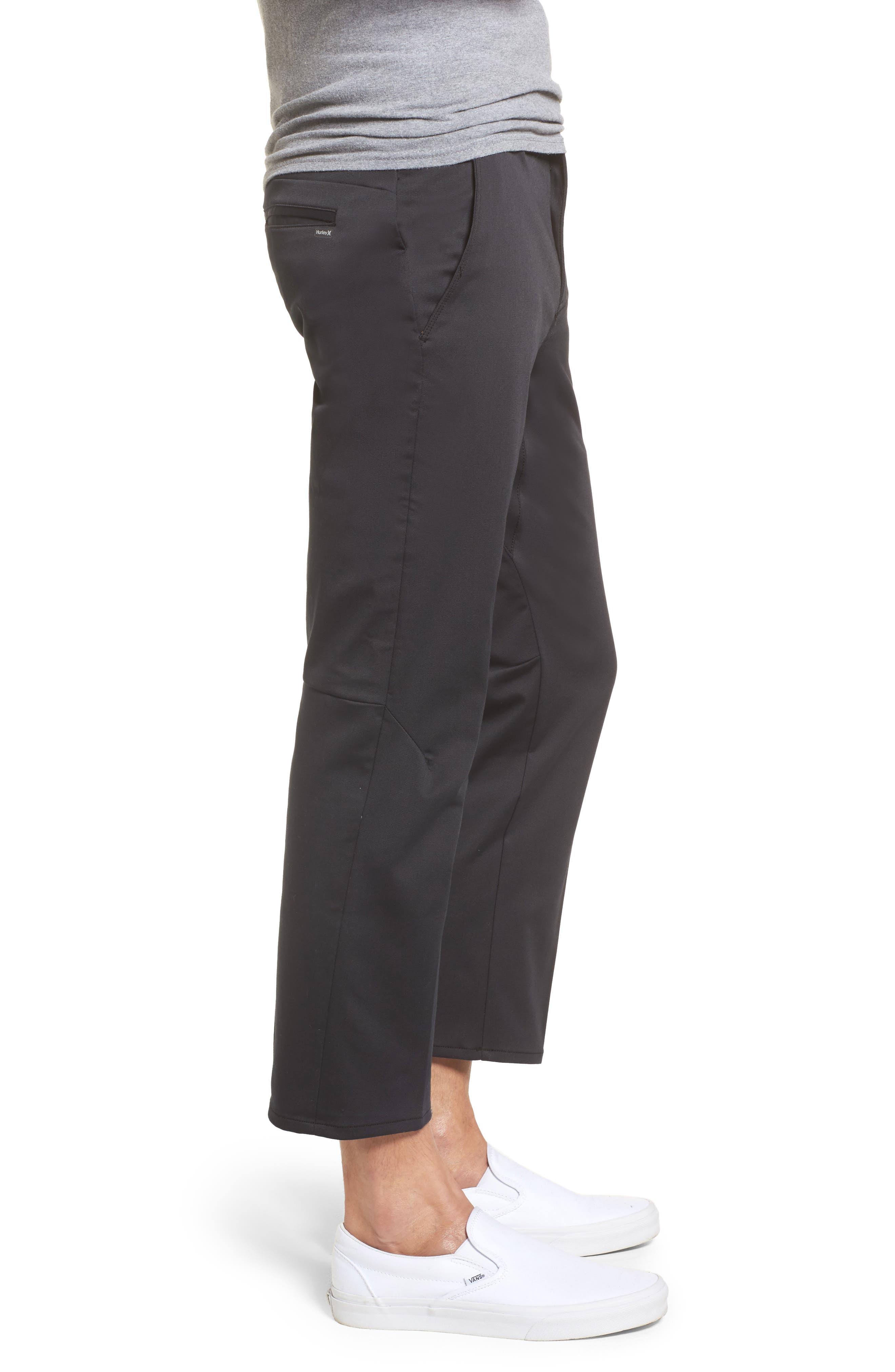 Covert Slim Fit Crop Pants,                             Alternate thumbnail 3, color,                             010