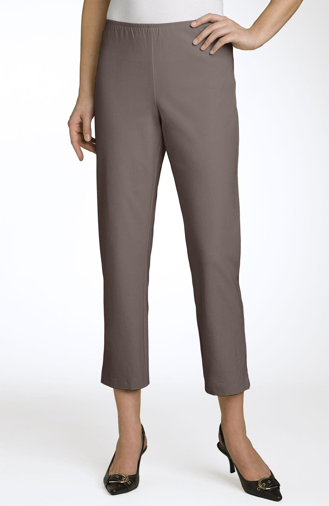 Organic Stretch Cotton Twill Ankle Pants,                             Main thumbnail 20, color,