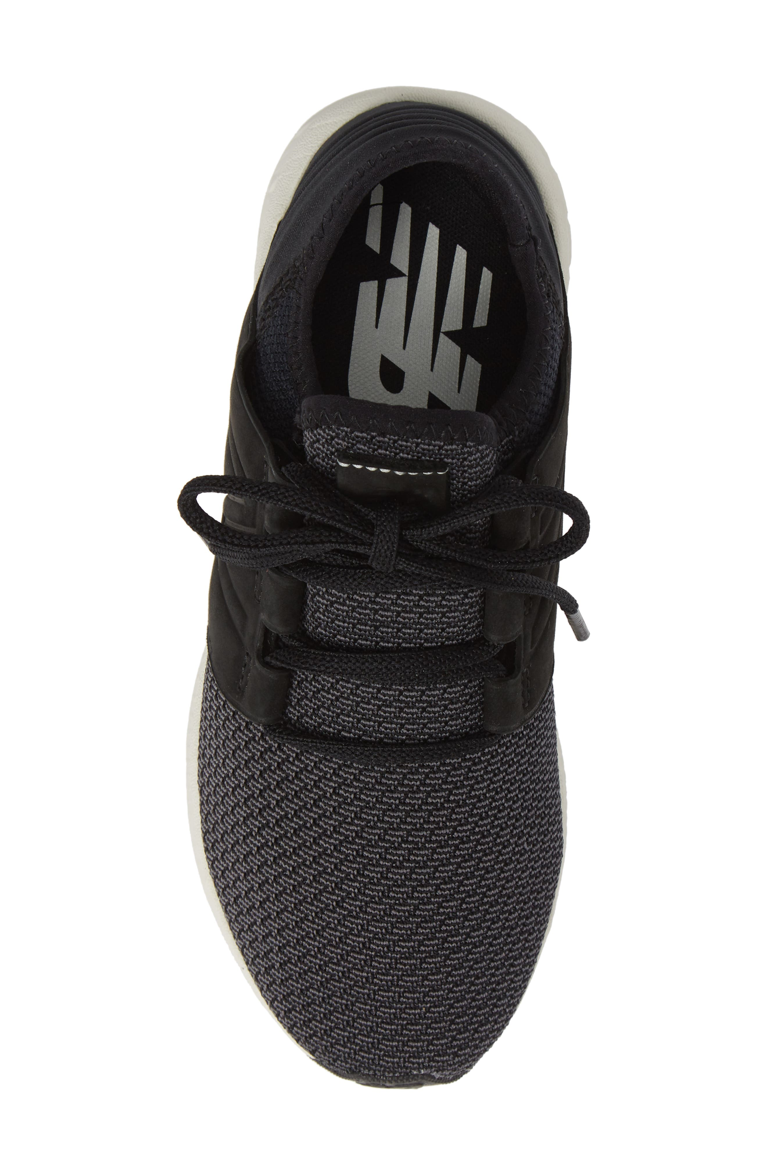 Fresh Foam Cruz Knit Running Shoe,                             Alternate thumbnail 5, color,                             BLACK/ MAGNET