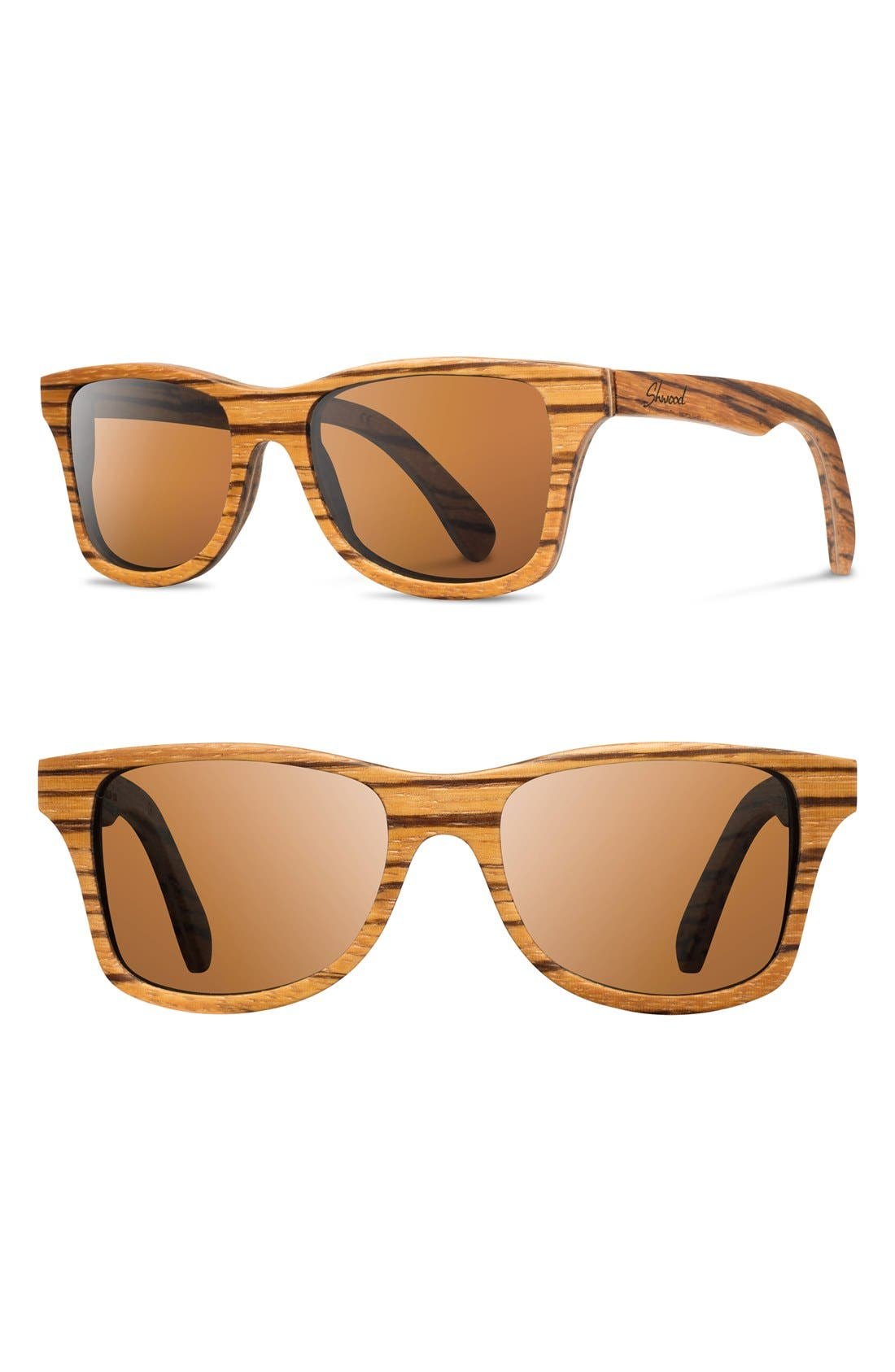 'Canby' 54mm Polarized Wood Sunglasses,                             Main thumbnail 1, color,                             200